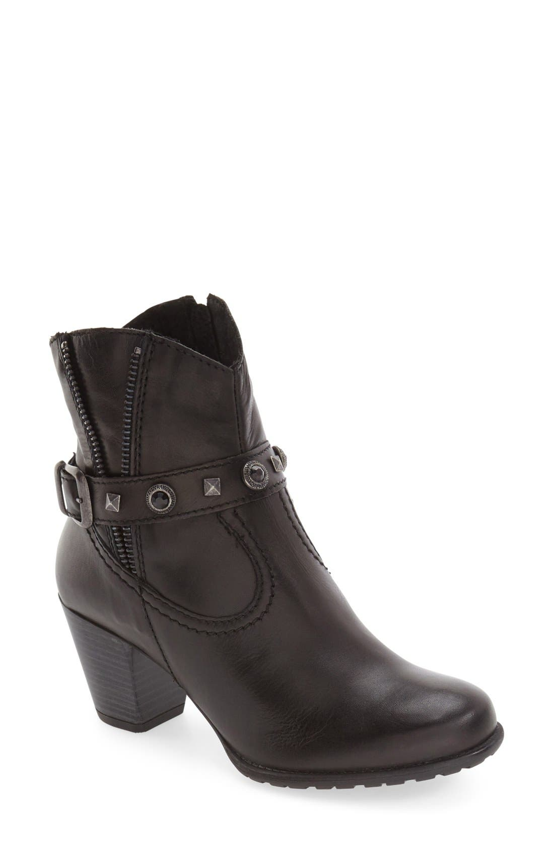 'Ramona' Boot,                         Main,                         color, Black Leather