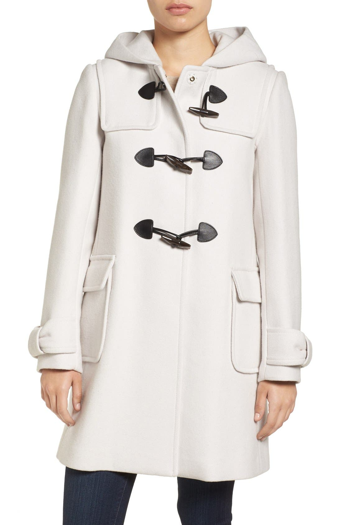 Main Image - kate spade new york hooded wool blend walking coat