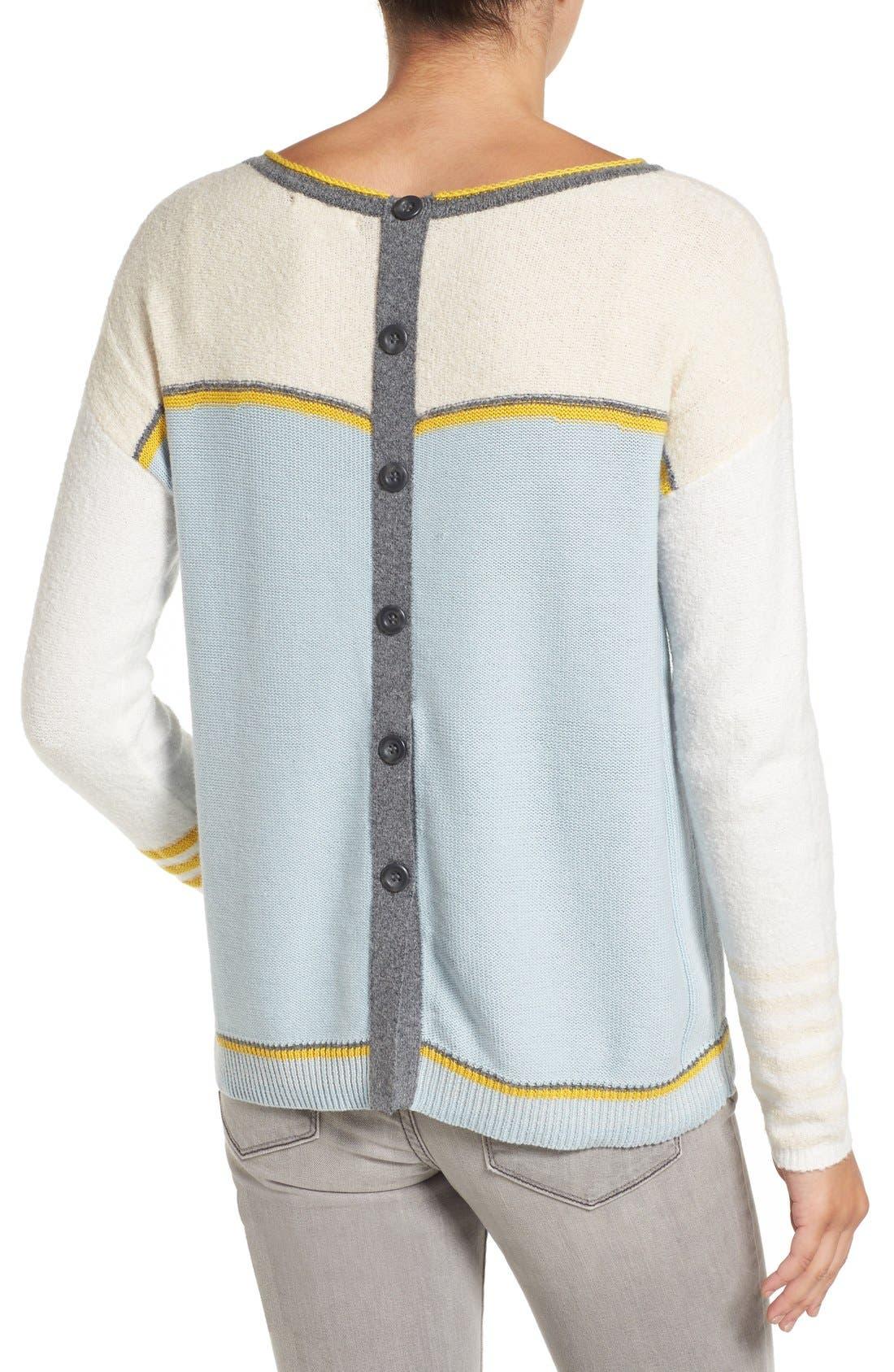 Alternate Image 2  - Caslon® Button Back Sweater (Regular & Petite)