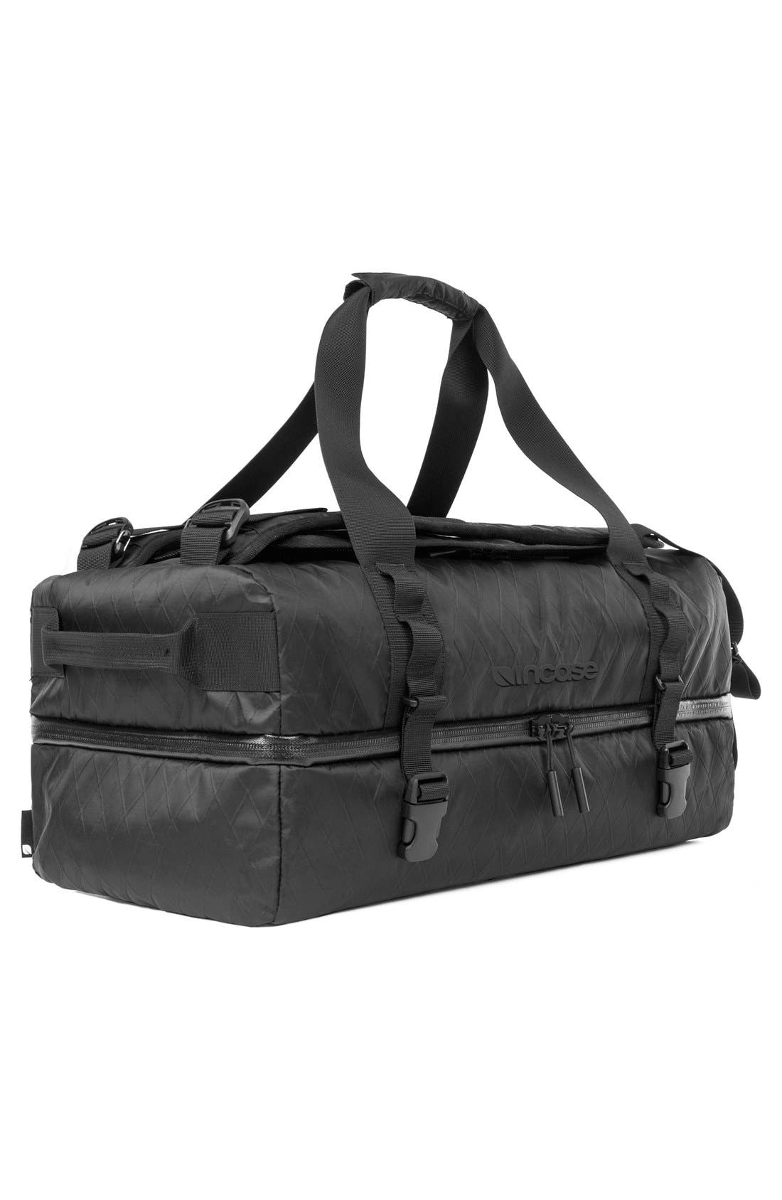 TRACTO Diamond Wire Split Travel Bag,                             Alternate thumbnail 3, color,                             Black