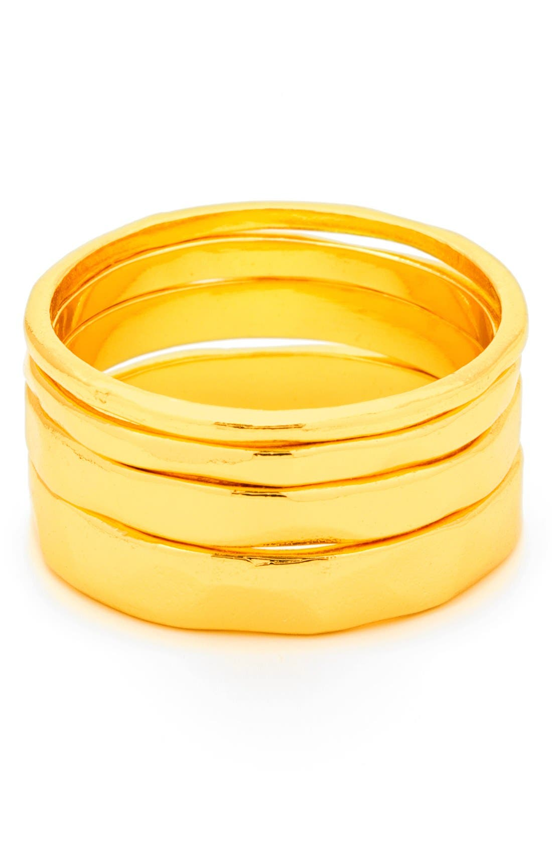 'G' Stacking Rings,                             Main thumbnail 1, color,                             Gold