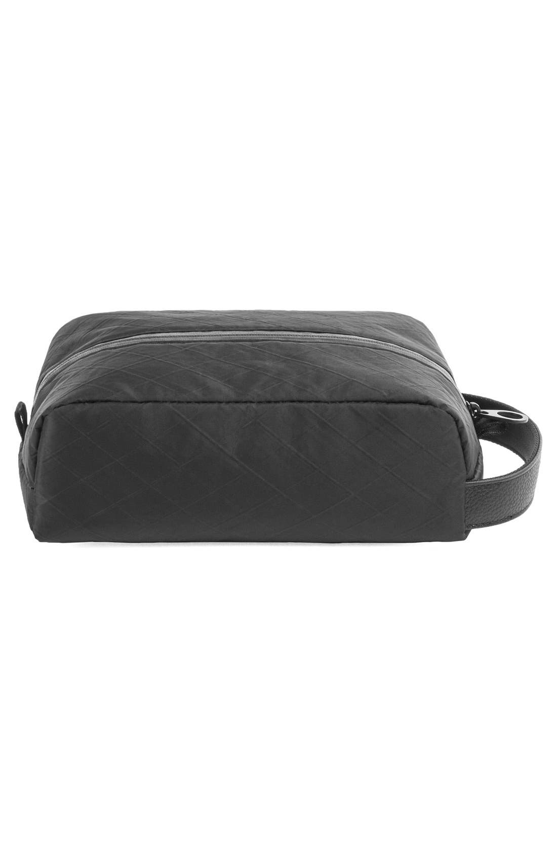 Diamond Wire Dopp Kit,                             Alternate thumbnail 10, color,                             Black