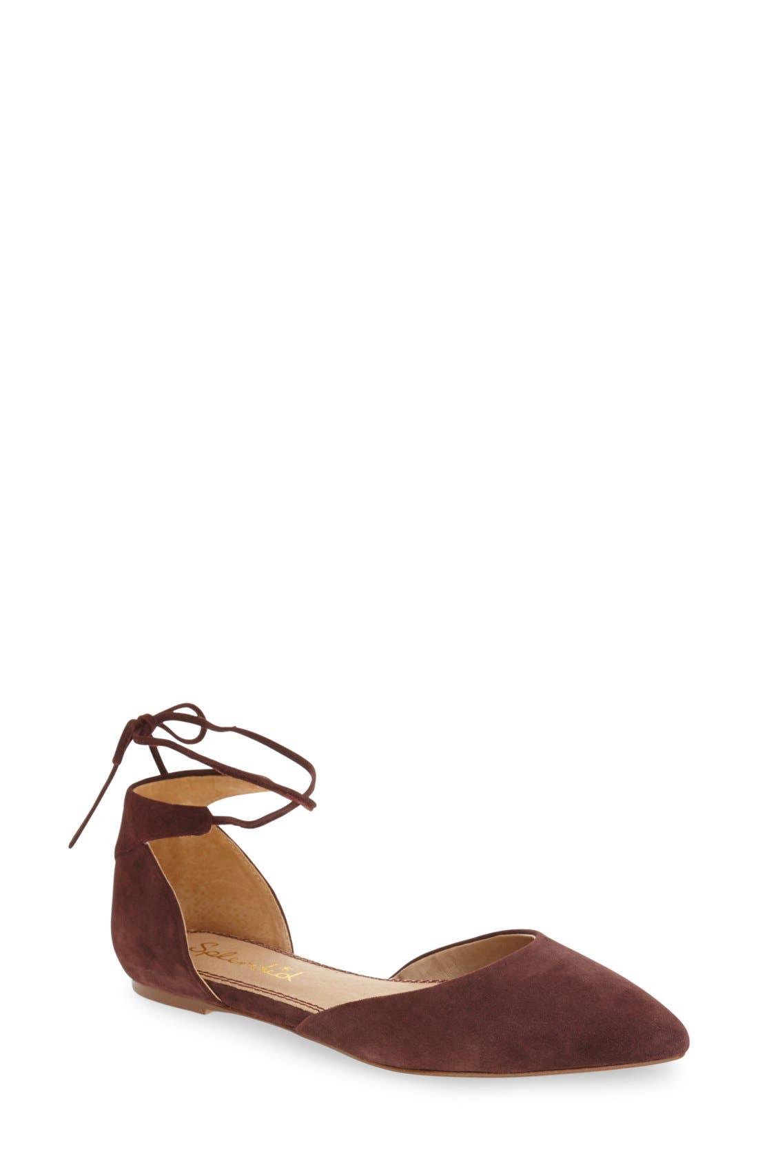 Main Image - Splendid 'Annabelle' Lace-Up d'Orsay Flat (Women)