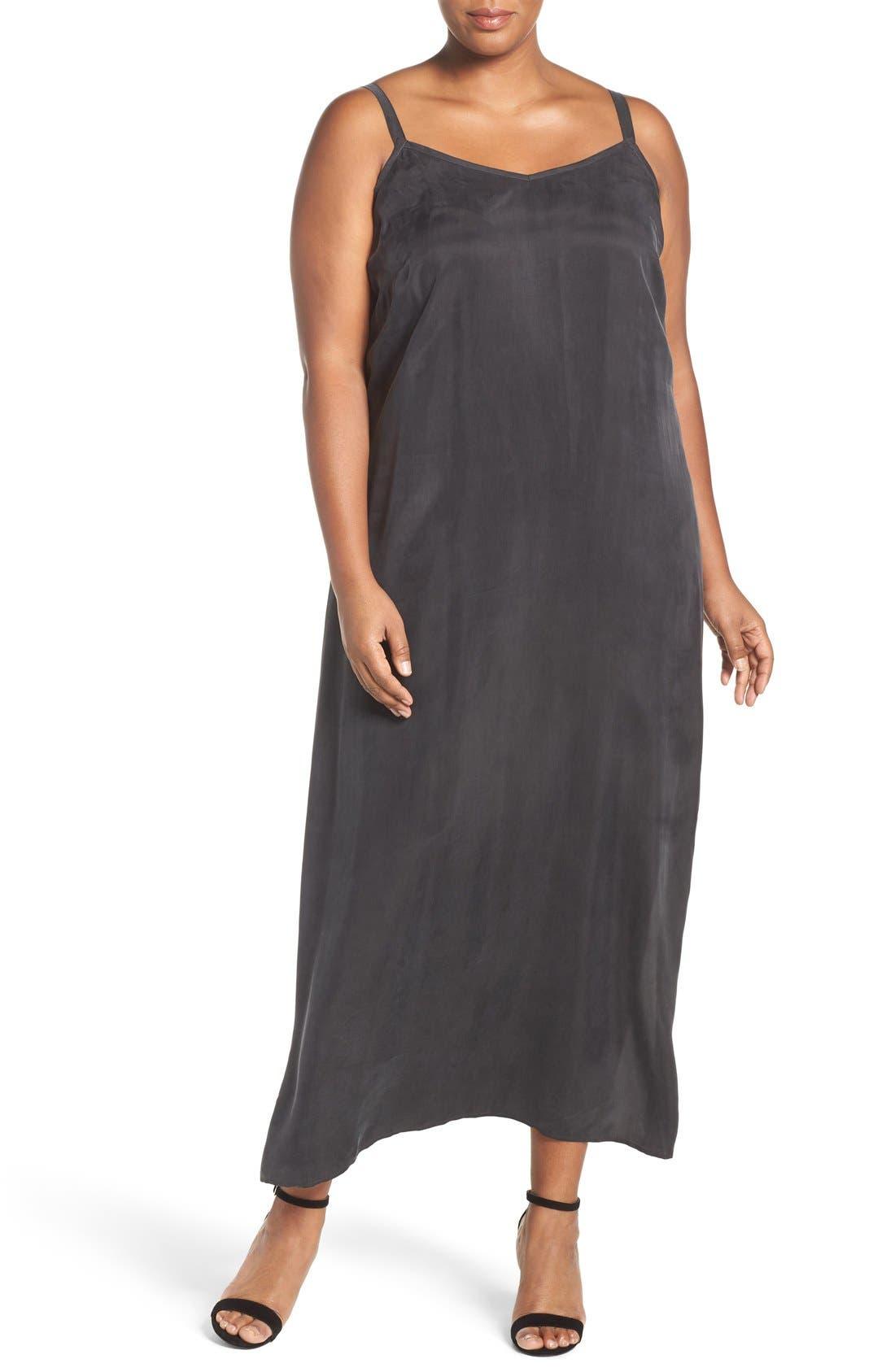 Maxi Slipdress,                         Main,                         color, Black Onyx