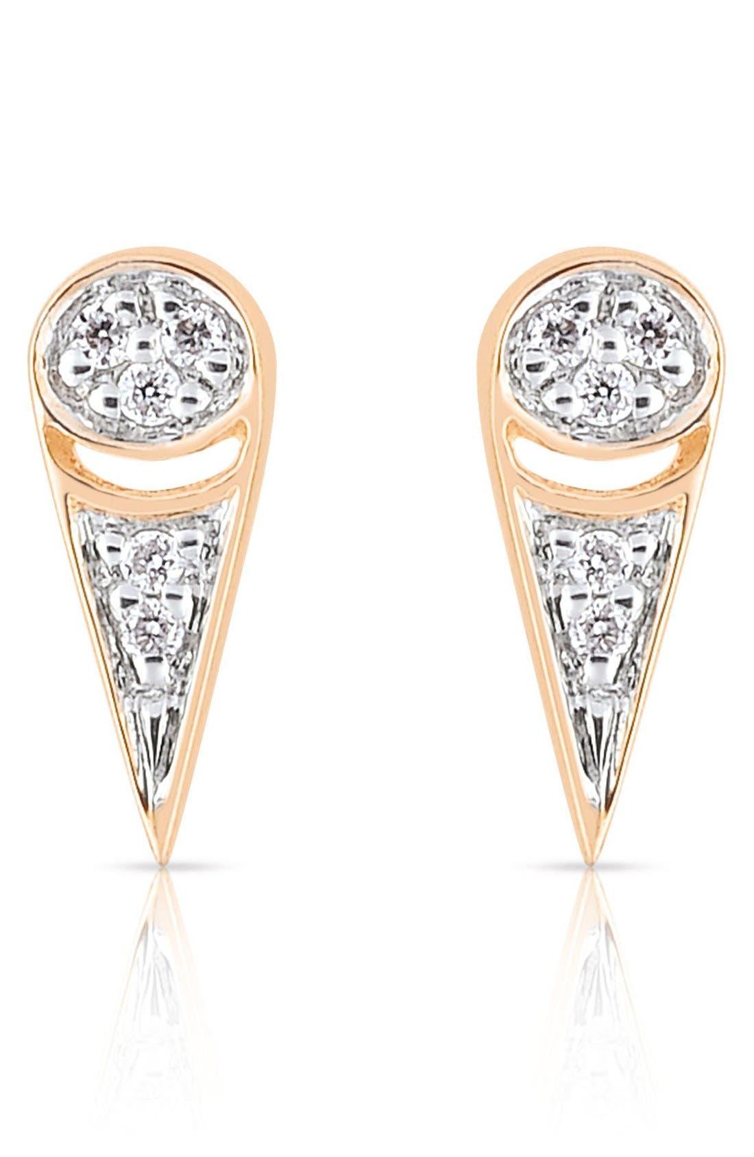 Alternate Image 1 Selected - ginette ny 'Mrs. Joe' Diamond Stud Earrings