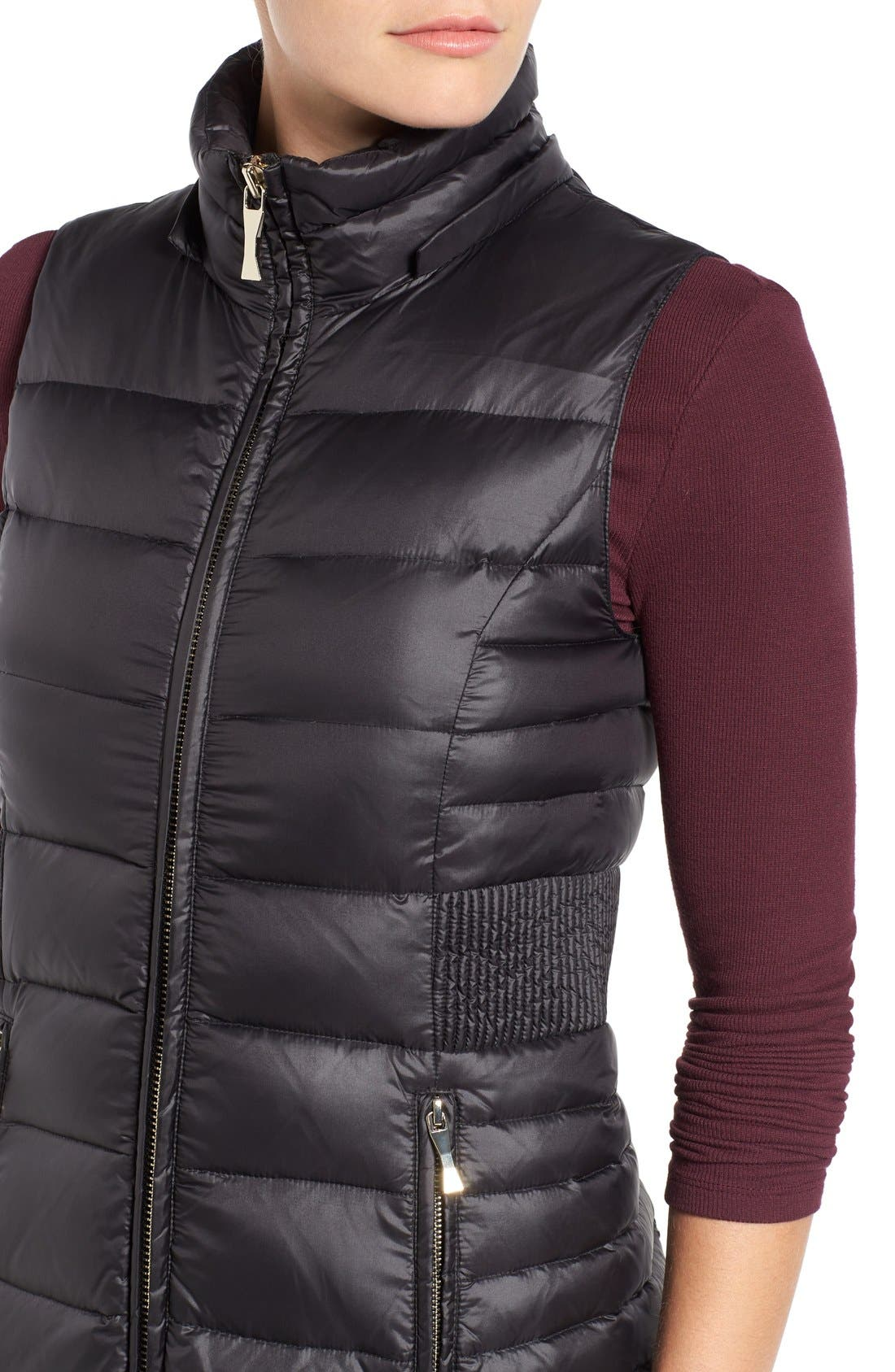 Alternate Image 4  - kate spade new york down vest with faux fur trim