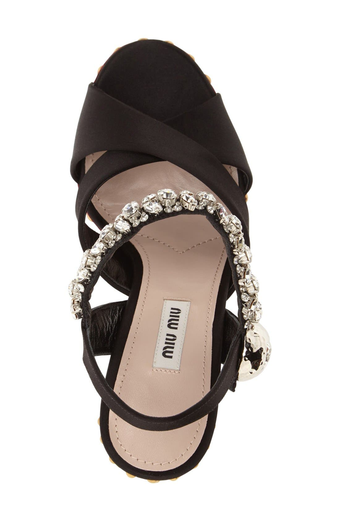 Alternate Image 3  - Miu Miu Embellished Platform Sandal (Women)