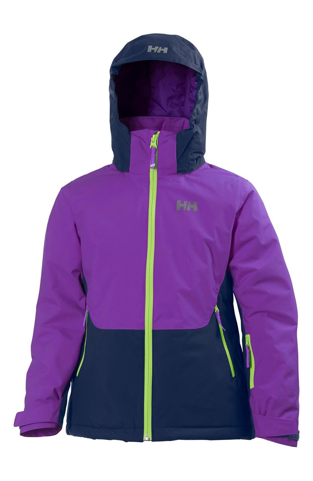 Alternate Image 1 Selected - Helly Hansen Jr. Stella Waterproof Hooded Jacket (Big Girls)