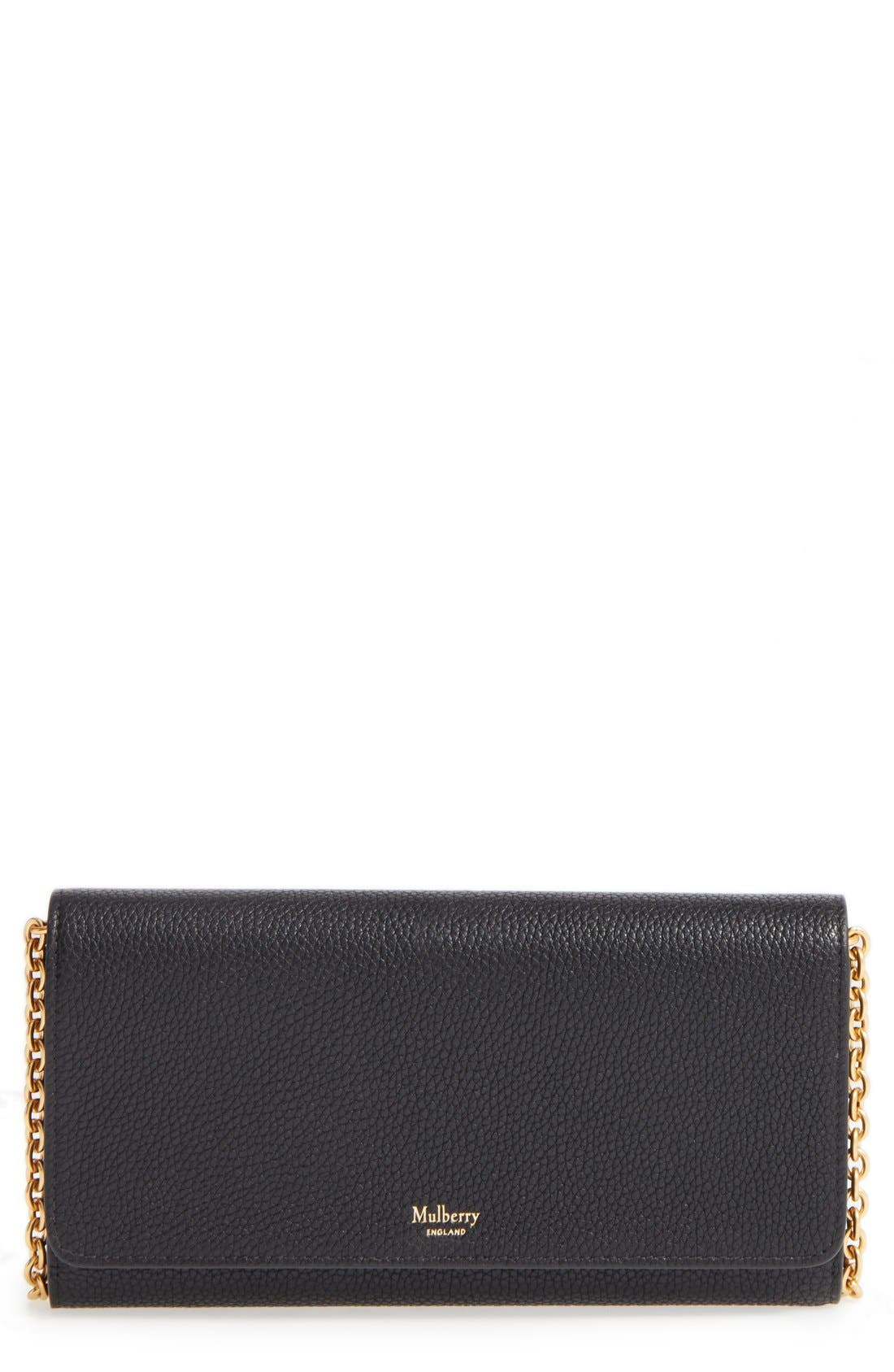 'Continental - Classic' Convertible Leather Clutch,                             Main thumbnail 1, color,                             Black