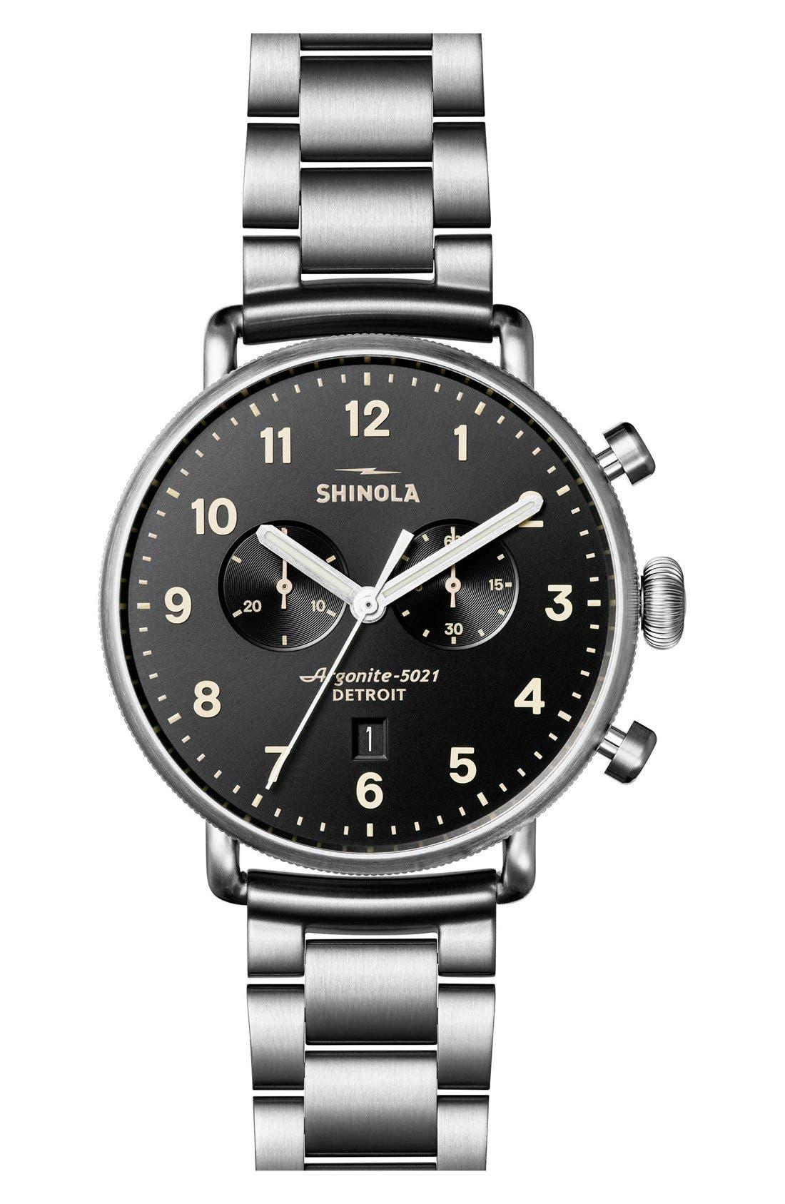 Main Image - Shinola The Canfield Bracelet Watch, 43mm