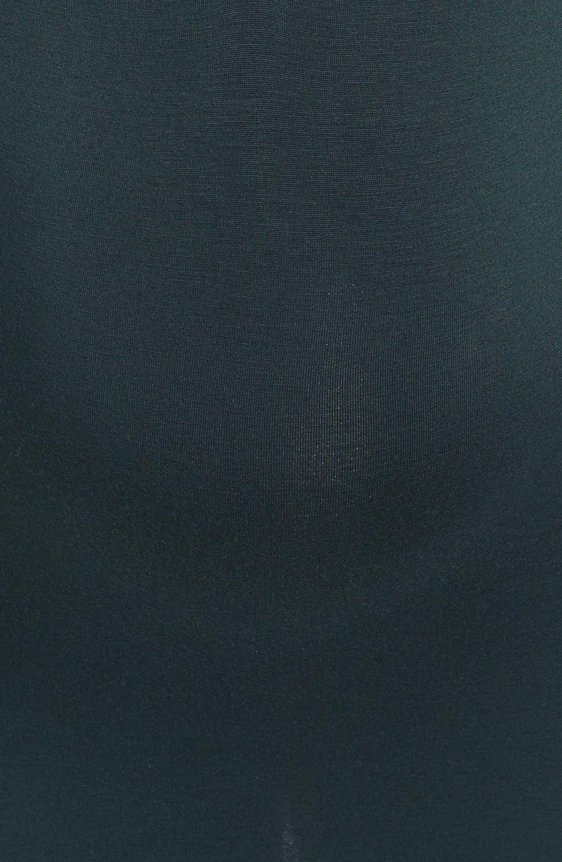 'Jenn' Maternity/Nursing Top,                             Alternate thumbnail 5, color,                             Hunter W/ Black Cuff