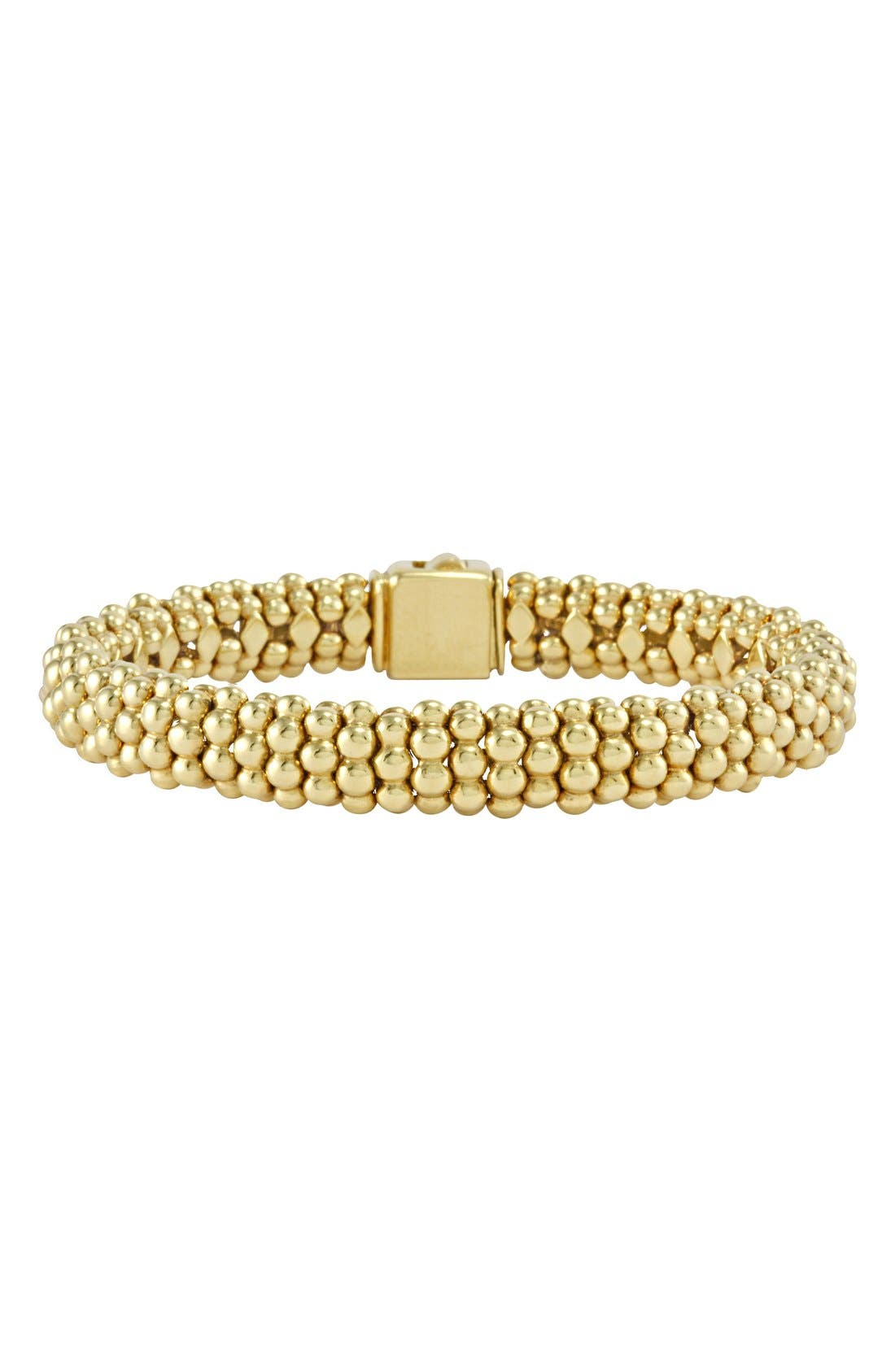 'Caviar Gold' Rope Bracelet,                             Main thumbnail 1, color,                             Gold