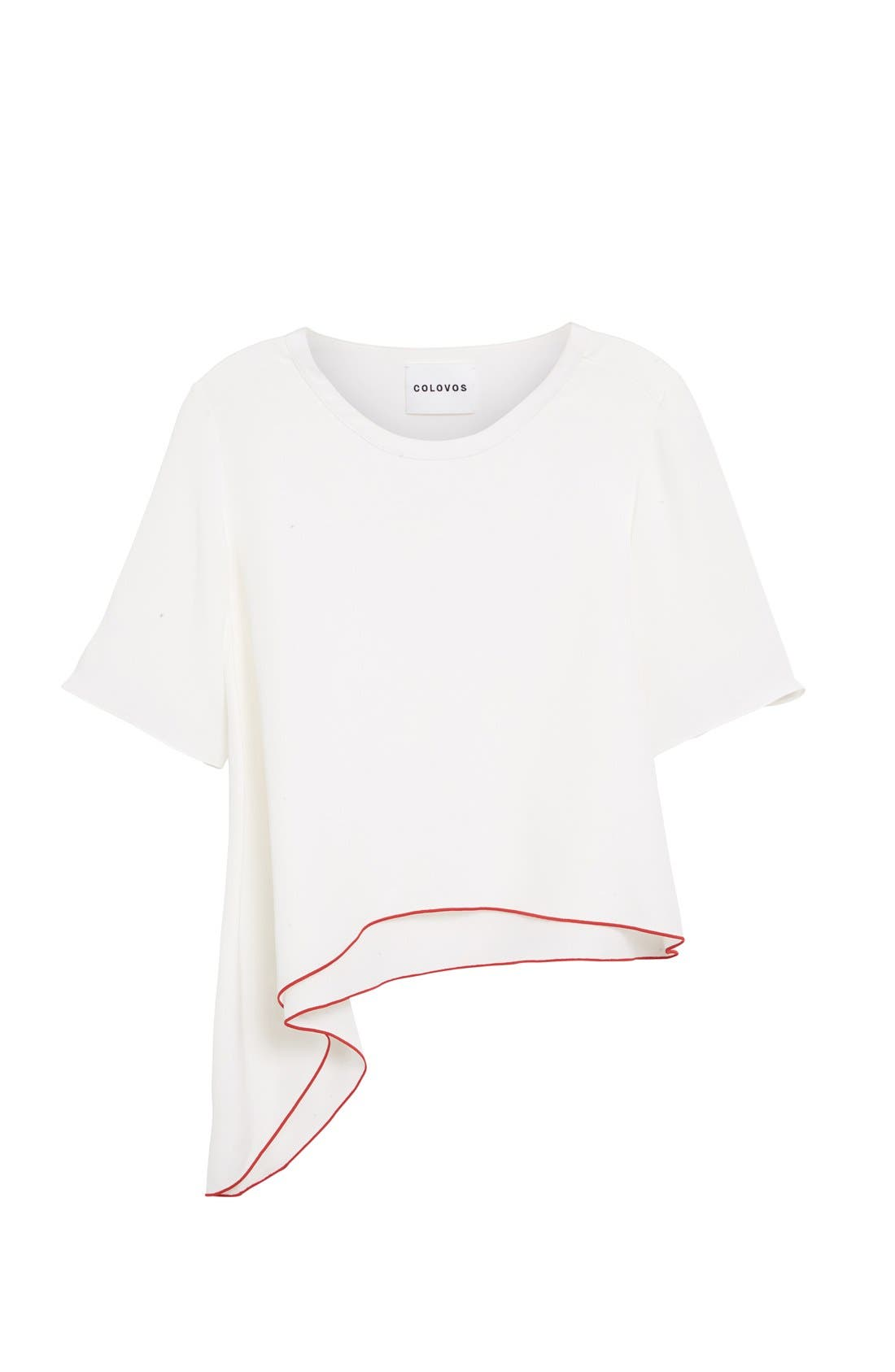Alternate Image 4  - Colovos Asymmetrical Silk Tee