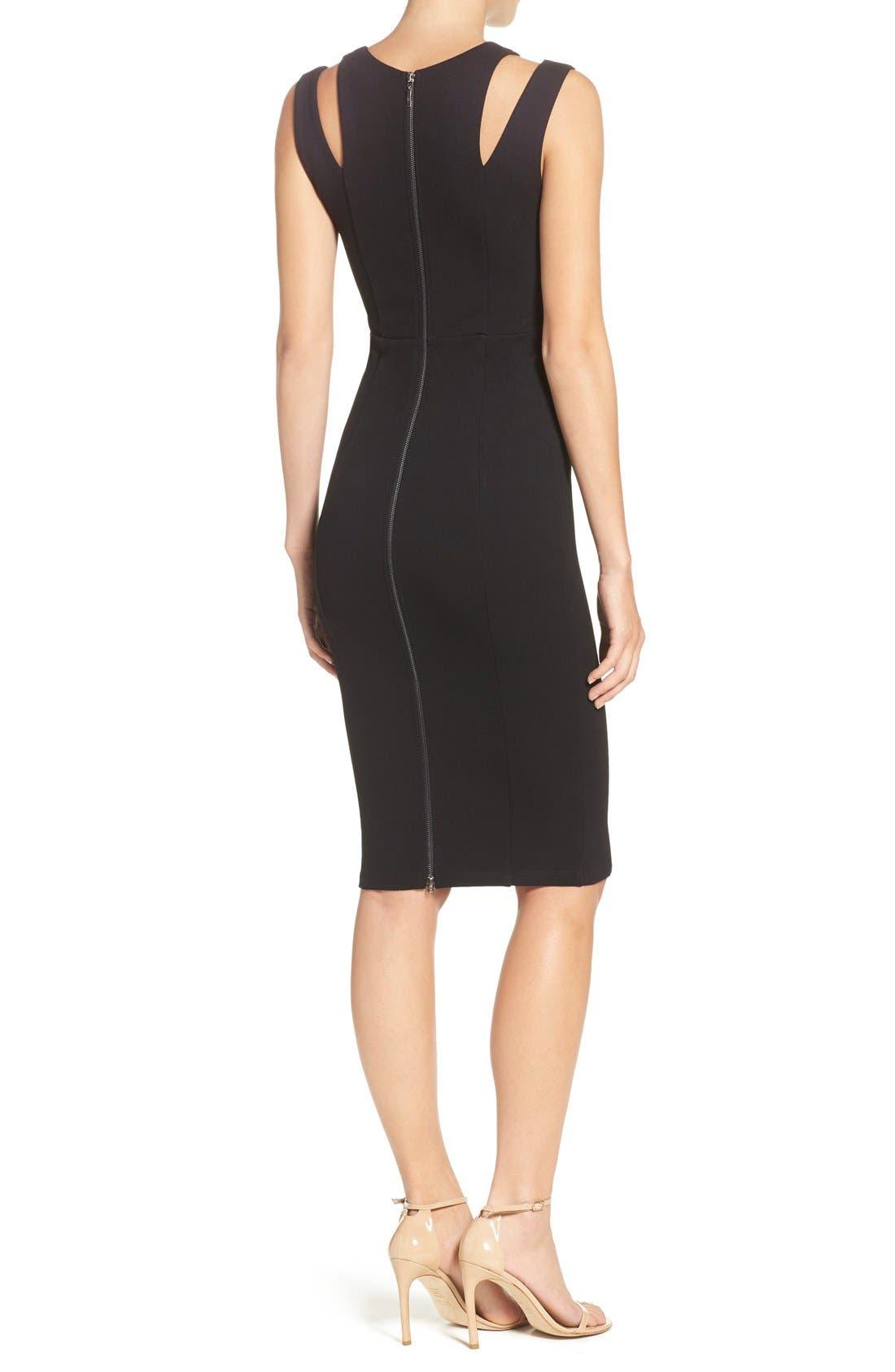 Alternate Image 2  - Felicity & Coco Shoulder Detail Ponte Sheath Dress (Regular & Petite) (Nordstrom Exclusive)