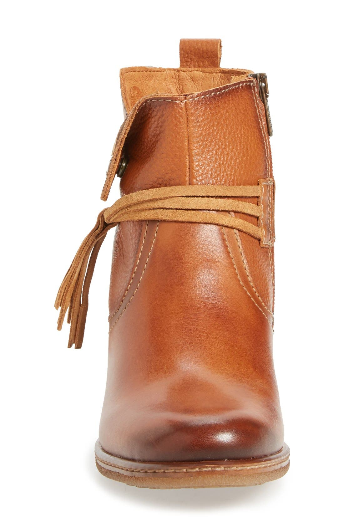 'Zaragoza' Bootie,                             Alternate thumbnail 3, color,                             Brandy Leather