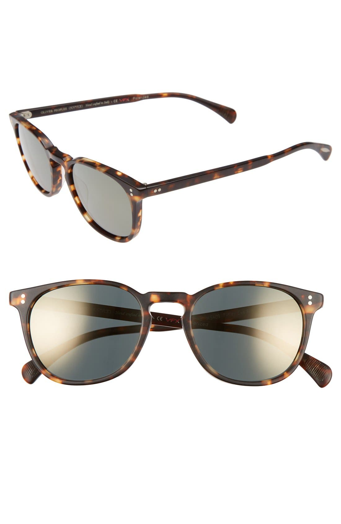 Alternate Image 1 Selected - Oliver Peoples Finley 51mm Retro Polarized Sunglasses