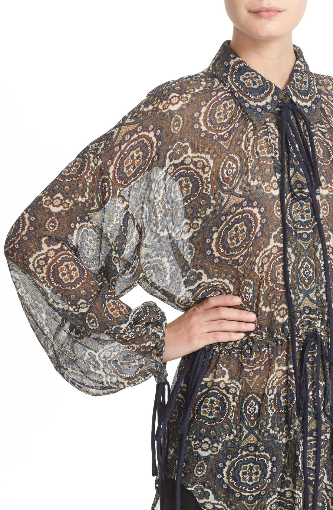 Alternate Image 6  - Chloé Medallion Print Silk Crepon Blouse
