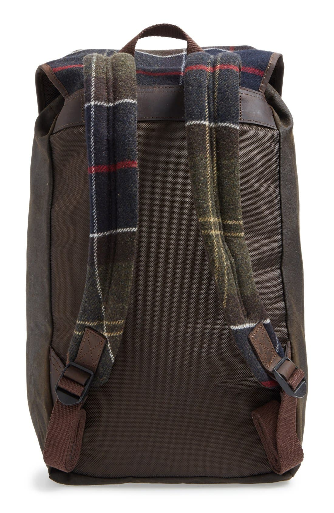 Waxed Canvas Backpack,                             Alternate thumbnail 3, color,                             Classic