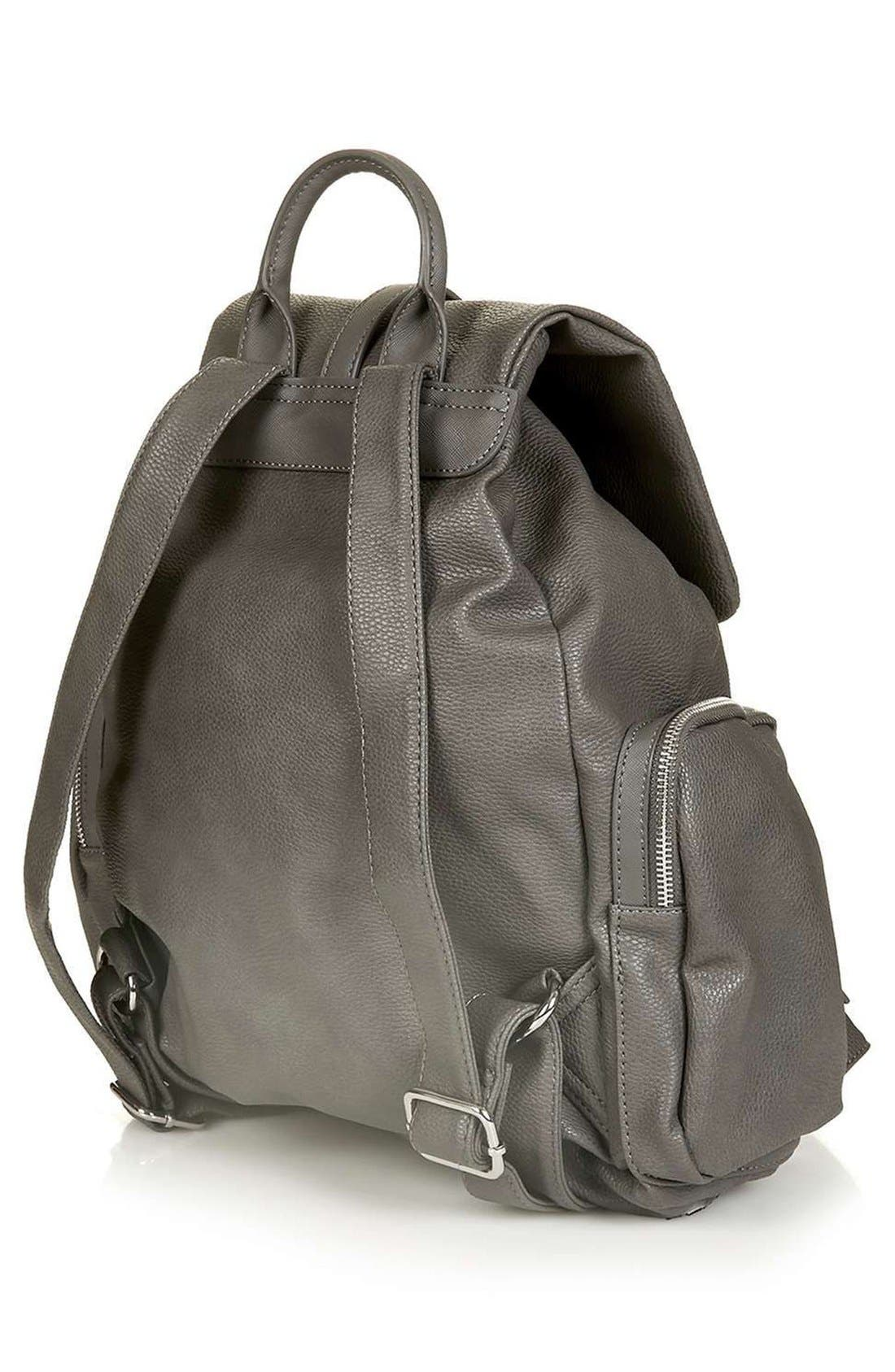 Alternate Image 3  - Topshop Faux Leather Backpack
