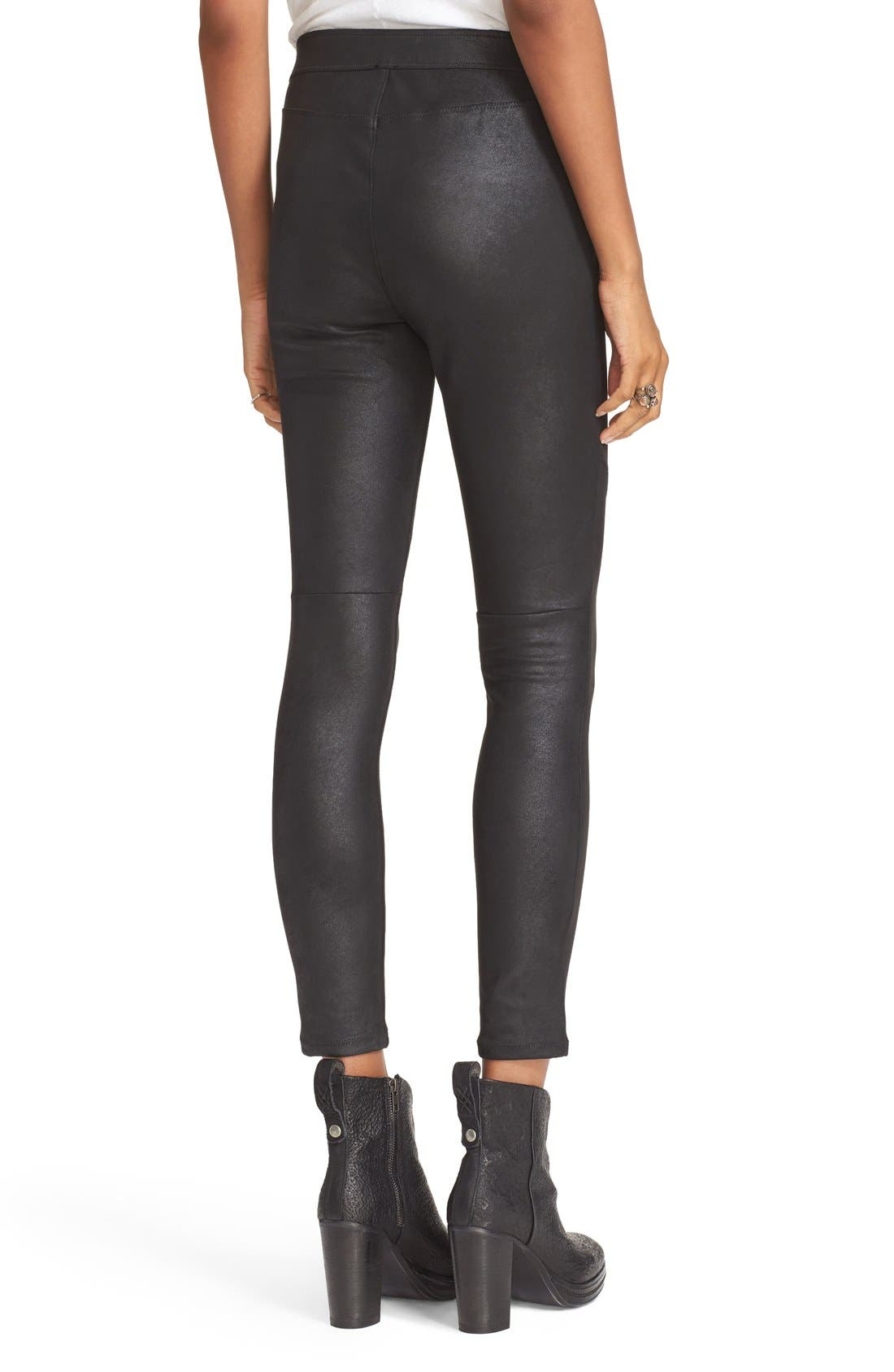 Alternate Image 2  - Free People Never Let Go Faux Leather Pants