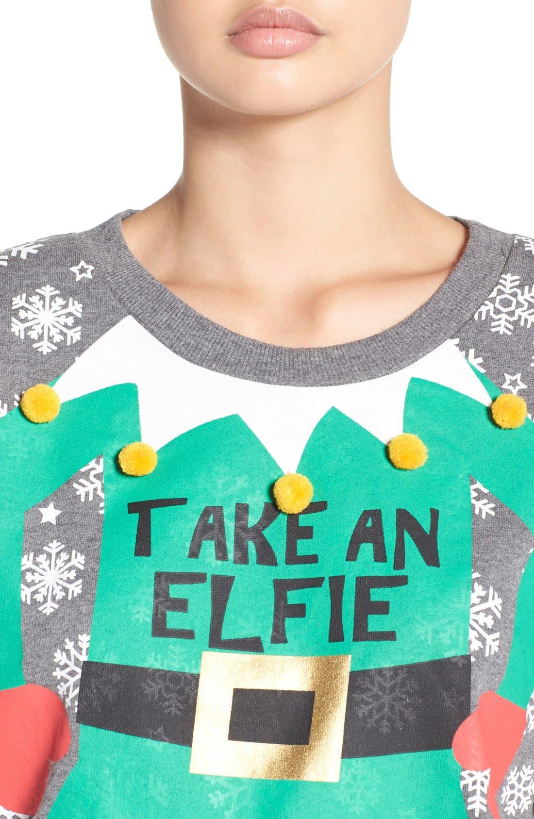 Alternate Image 4  - COZY ZOE Holiday Sweatshirt