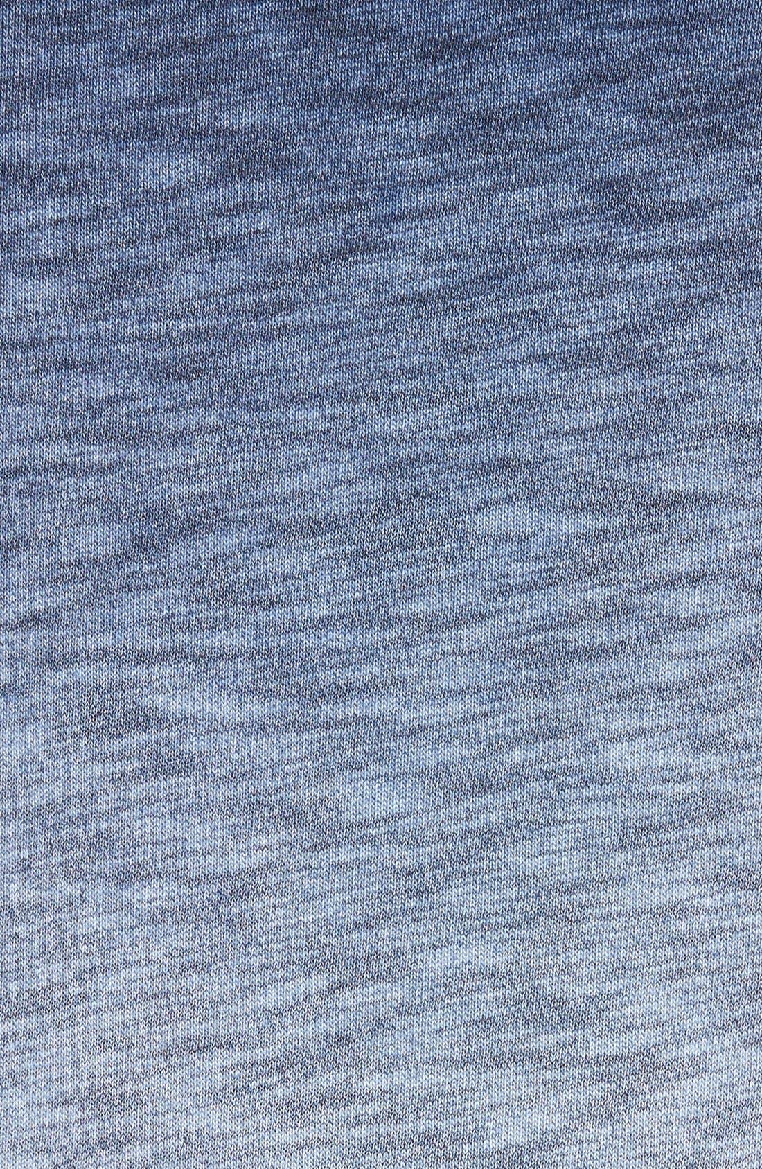 'Santiago' Ombré Crewneck Sweatshirt,                             Alternate thumbnail 5, color,                             Navy