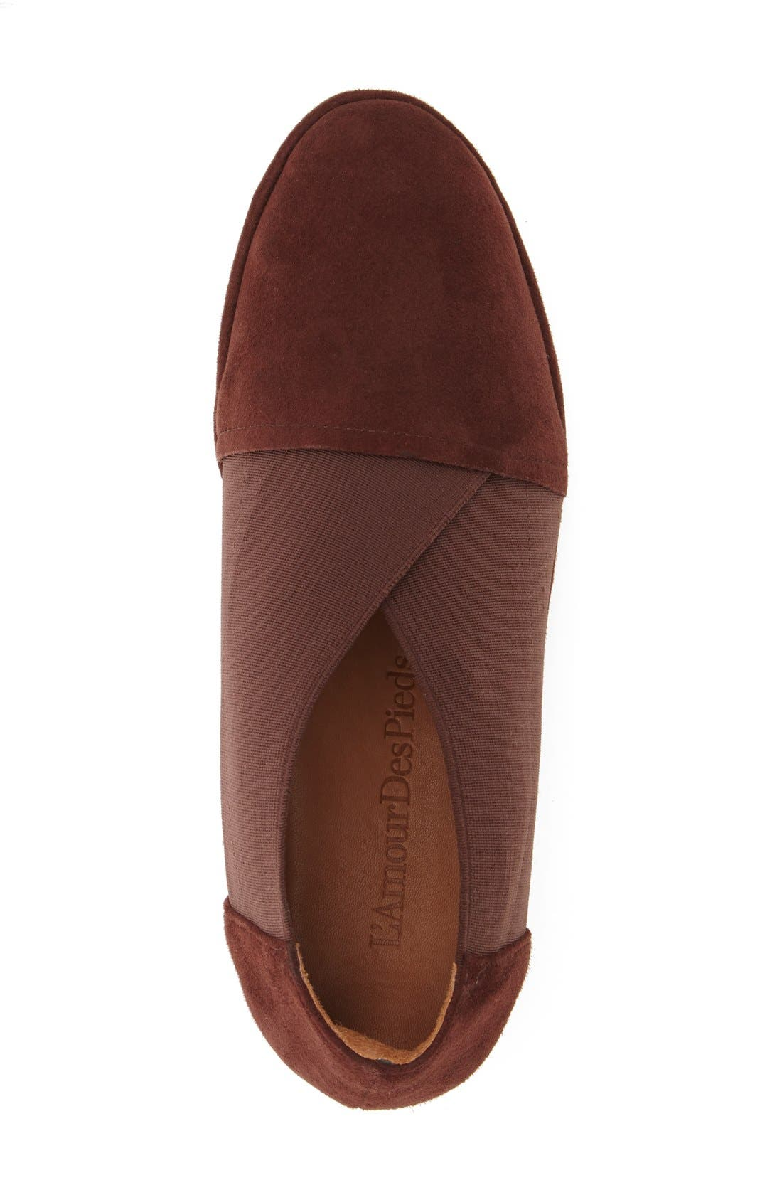 'Bowden' Slip-On Wedge,                             Alternate thumbnail 3, color,                             Espresso Suede Leather