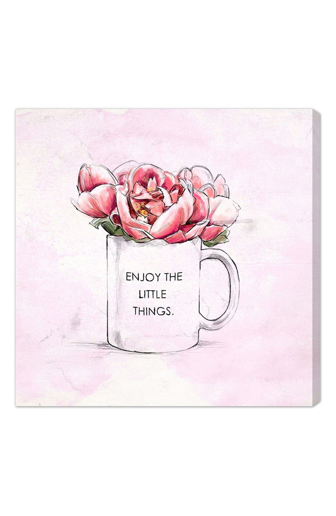 Alternate Image 1 Selected - Oliver Gal 'Enjoy the Little Things' Canvas Print