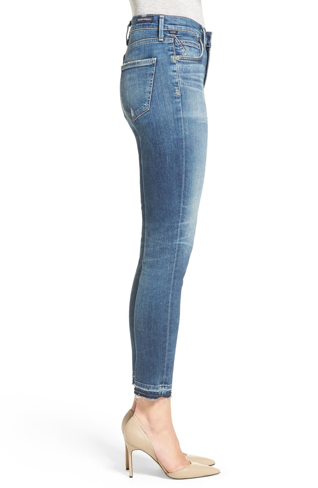 Rocket High Waist Crop Skinny Jeans,                             Alternate thumbnail 3, color,                             Weekender