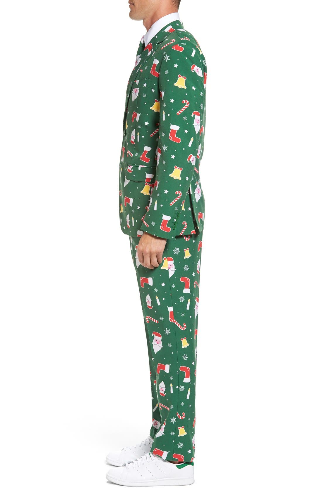 Alternate Image 3  - OppoSuits 'Santaboss' Trim Fit Two-Piece Suit with Tie