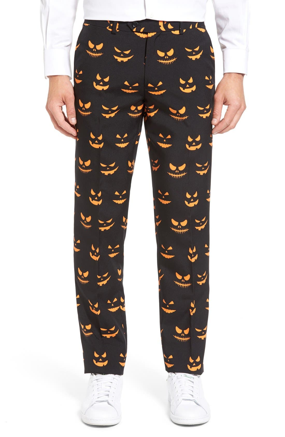 Alternate Image 6  - OppoSuits 'Black-O Jack-O' Trim Fit Suit with Tie