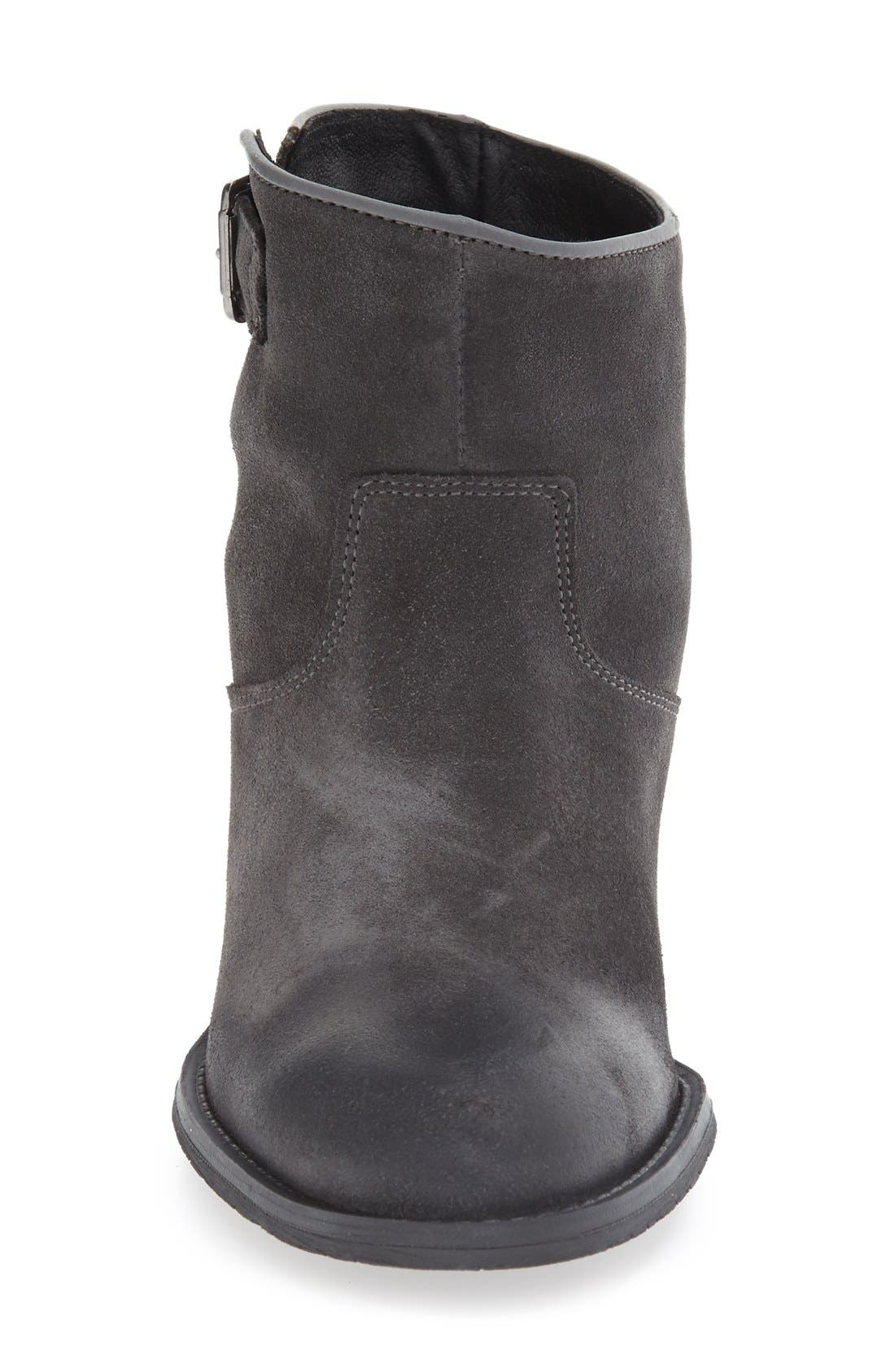 'Ramona' Waterproof Bootie,                             Alternate thumbnail 3, color,                             Grey Oil Suede