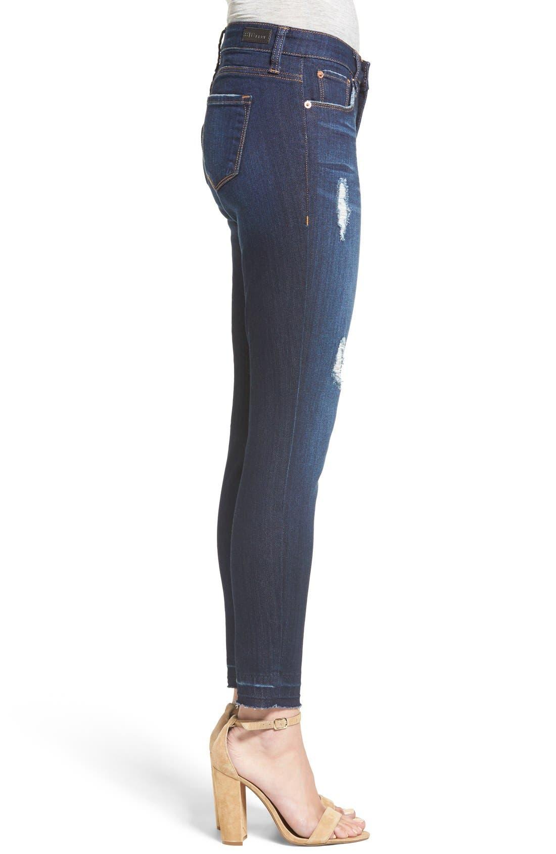 'Emma' Release Hem Skinny Jeans,                             Alternate thumbnail 3, color,                             East La Canada