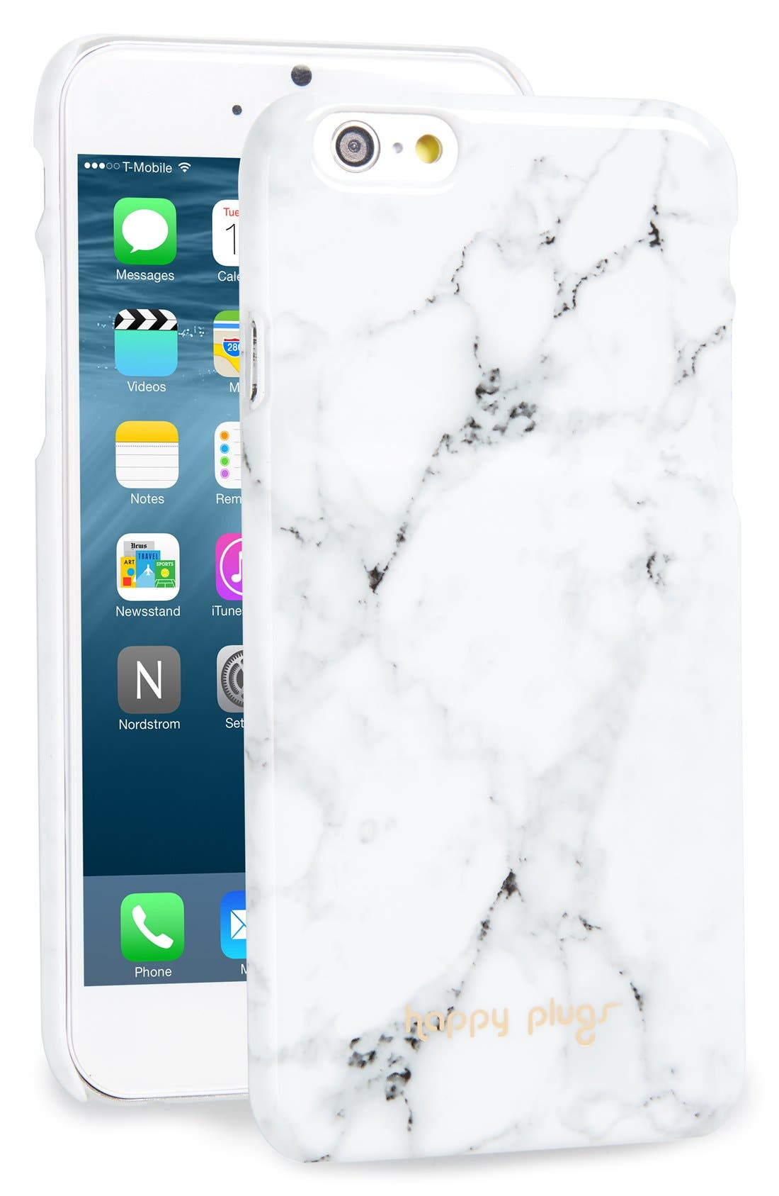 iPhone 6 & 6s Case,                             Main thumbnail 1, color,                             White Marble