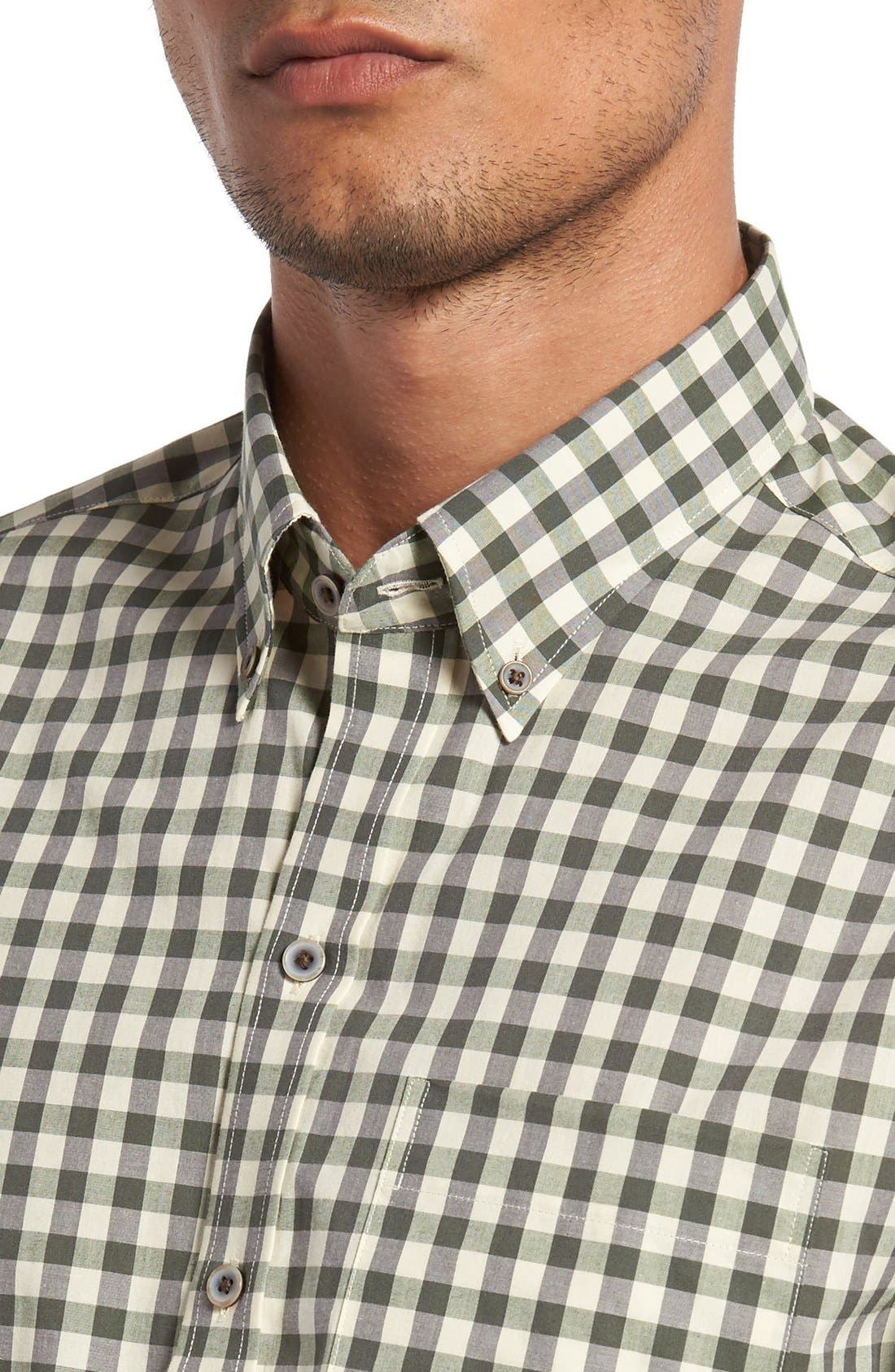 'Wildwood' Regular Fit Check Sport Shirt,                             Alternate thumbnail 2, color,                             Croquet