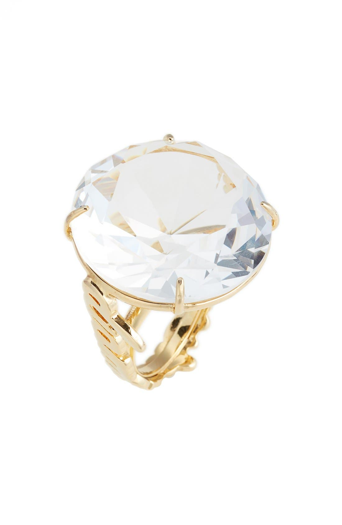 Main Image - kate spade new york 'what a gem' crystal cocktail ring