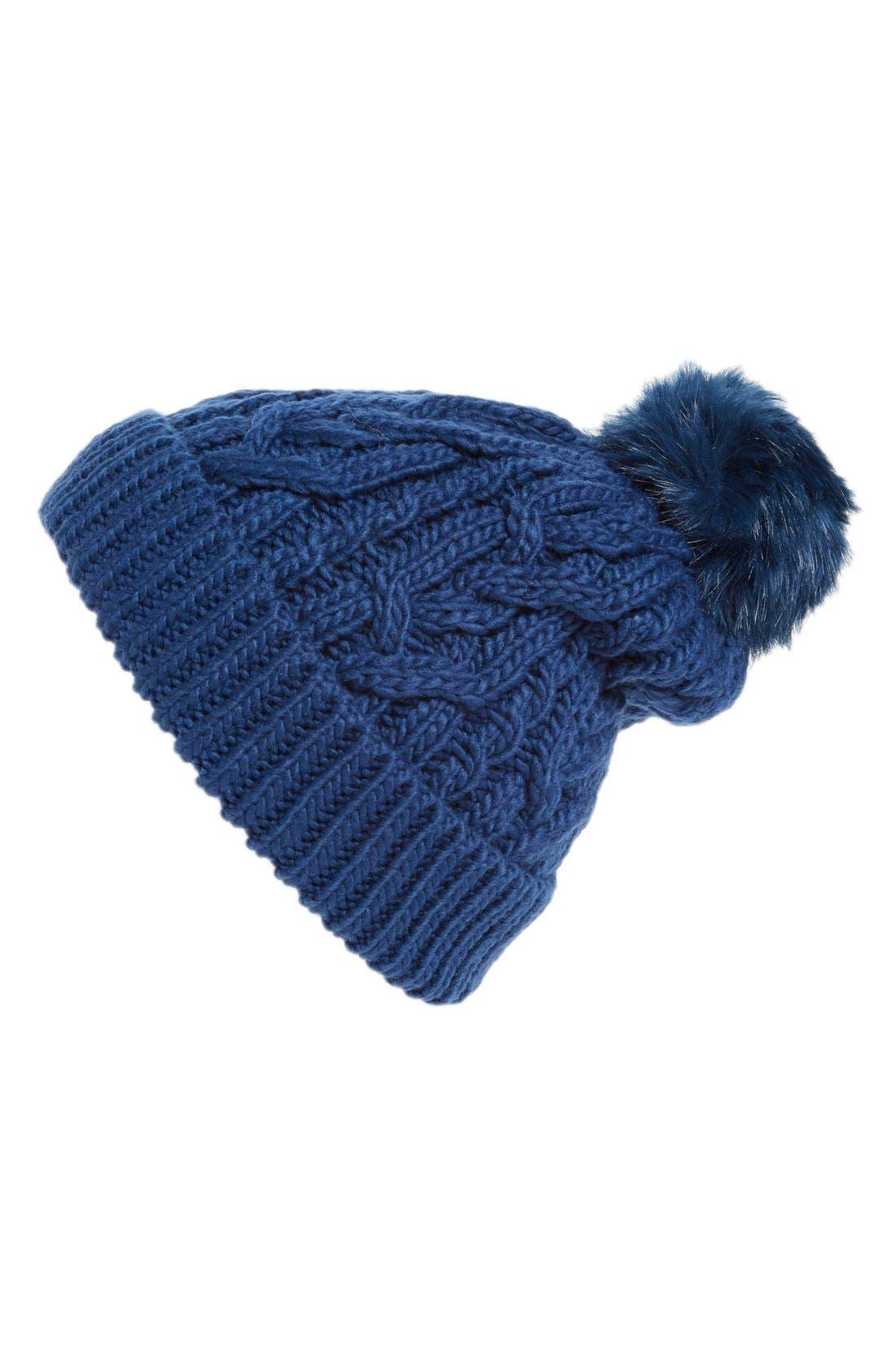 Main Image - Hinge Knit Pompom Beanie