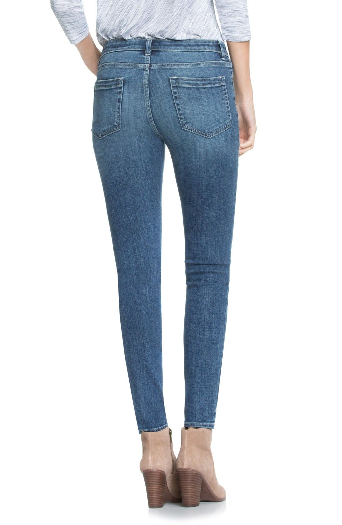 Two by Vince Camuto Classic Five-Pocket Skinny Jeans,                             Alternate thumbnail 2, color,                             True Blue