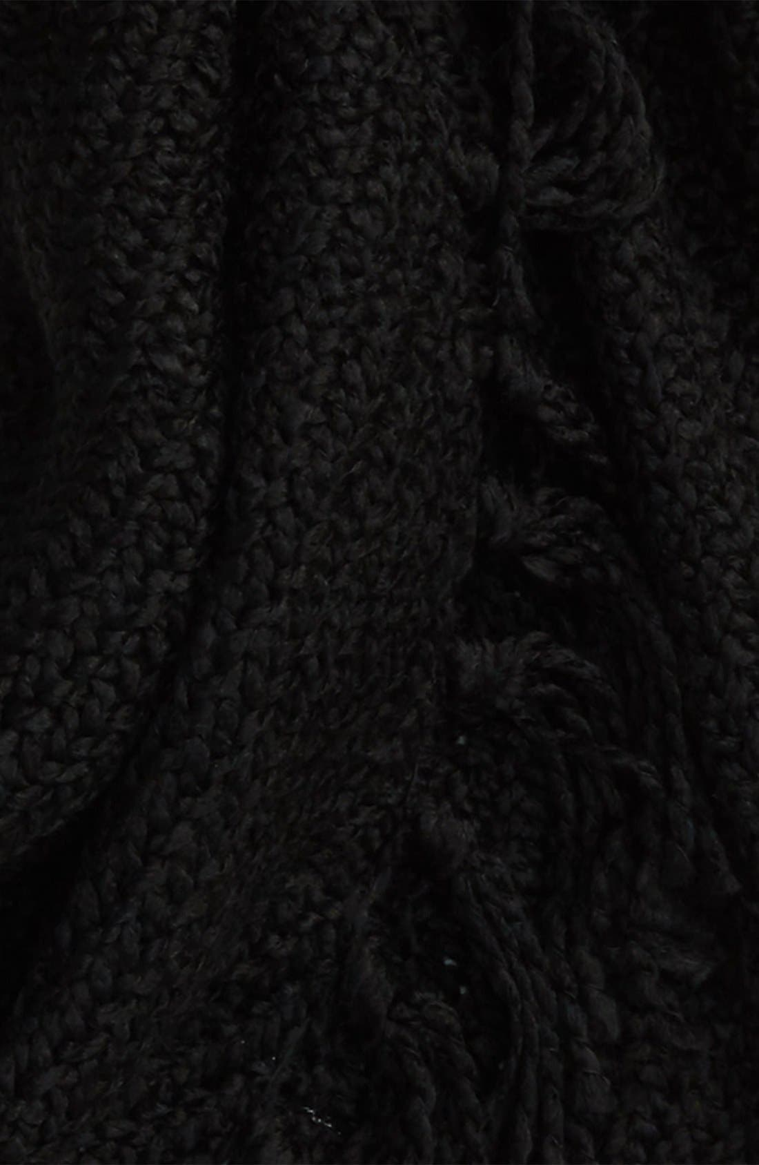 Knit Scarf,                             Alternate thumbnail 3, color,                             Black