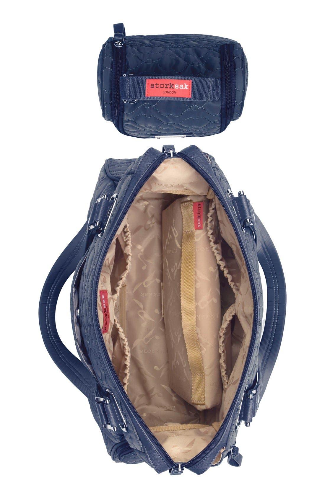 'Anna' Diaper Bag,                             Alternate thumbnail 5, color,                             Navy