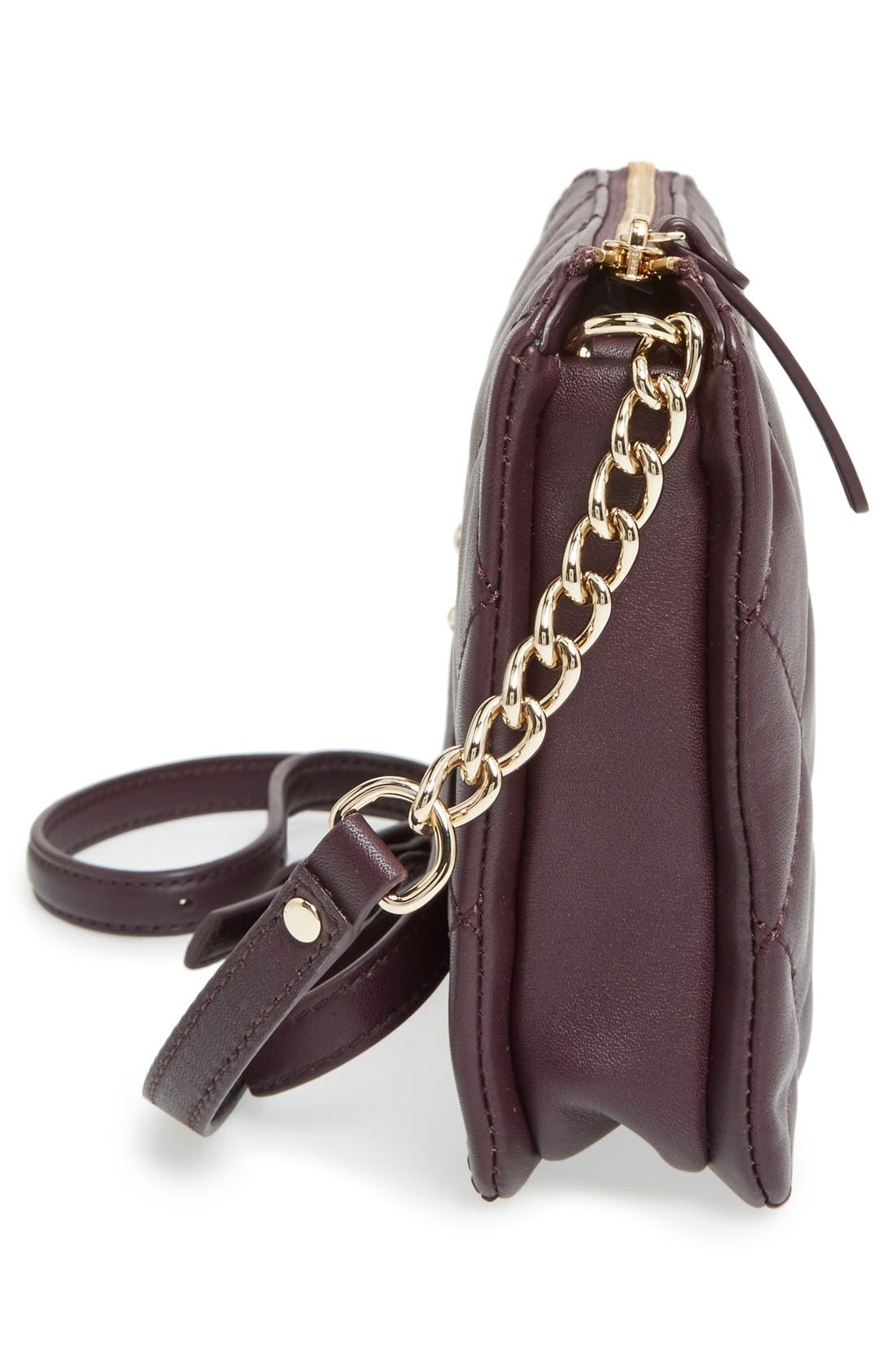 emerson place harbor leather crossbody bag,                             Alternate thumbnail 6, color,                             Dark Mahogany