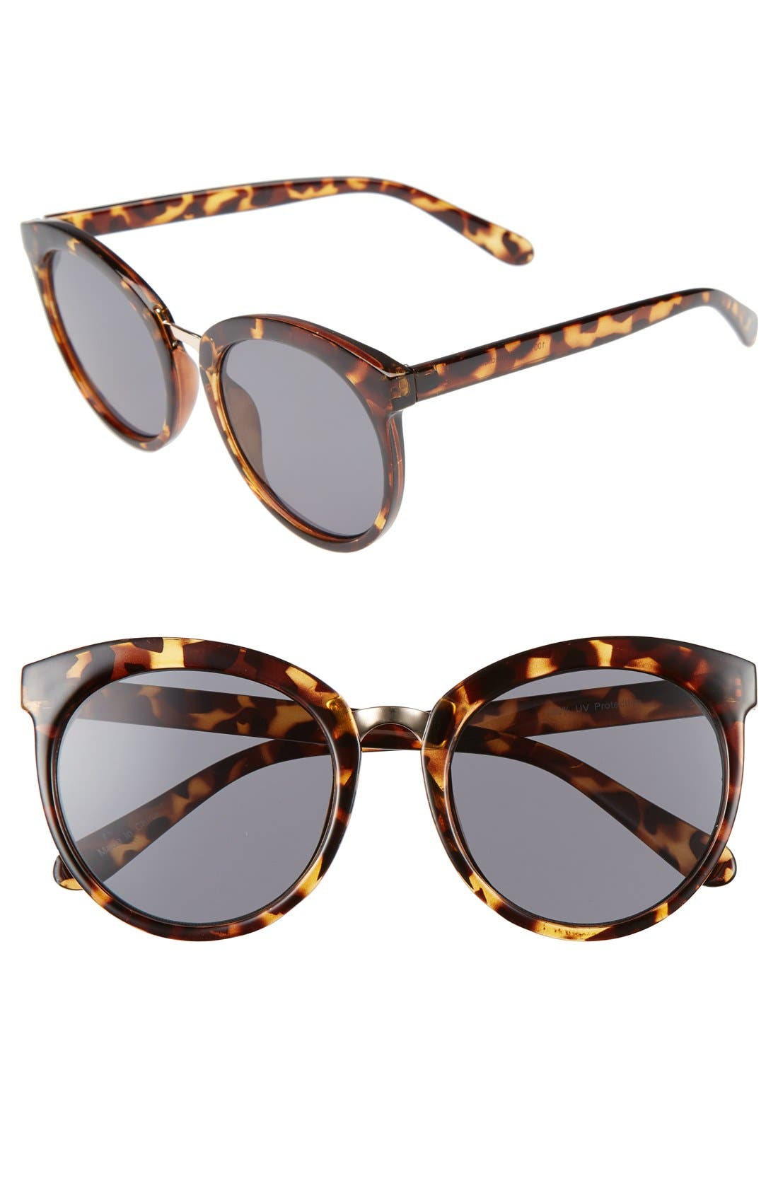 BP 'Lookout' 52mm Round Sunglasses,                         Main,                         color, Brown Tortoise