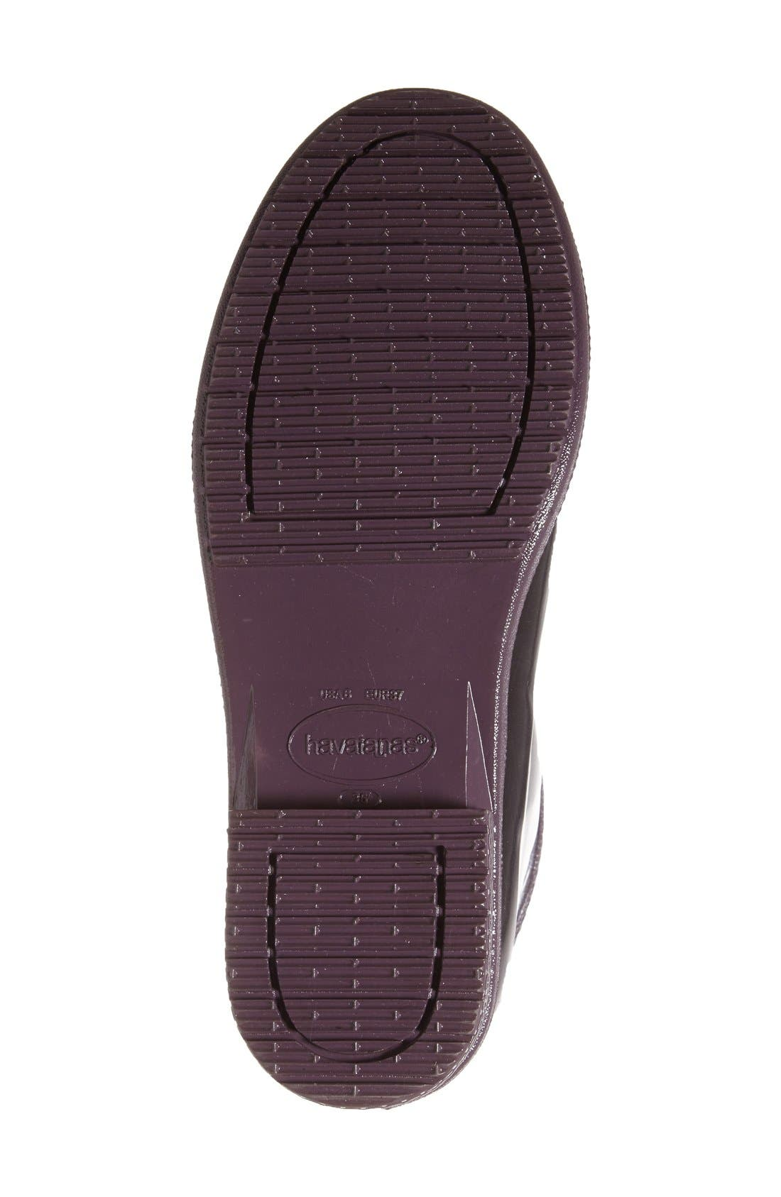 Alternate Image 4  - Havaianas 'Galochas Low Metallic' Waterproof Rain Boot (Women)