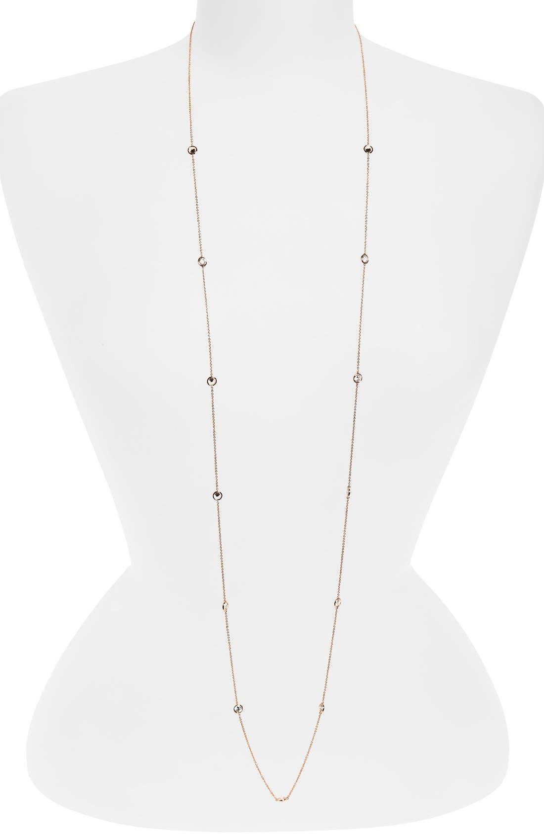 Nadri Long Bezel Station Necklace