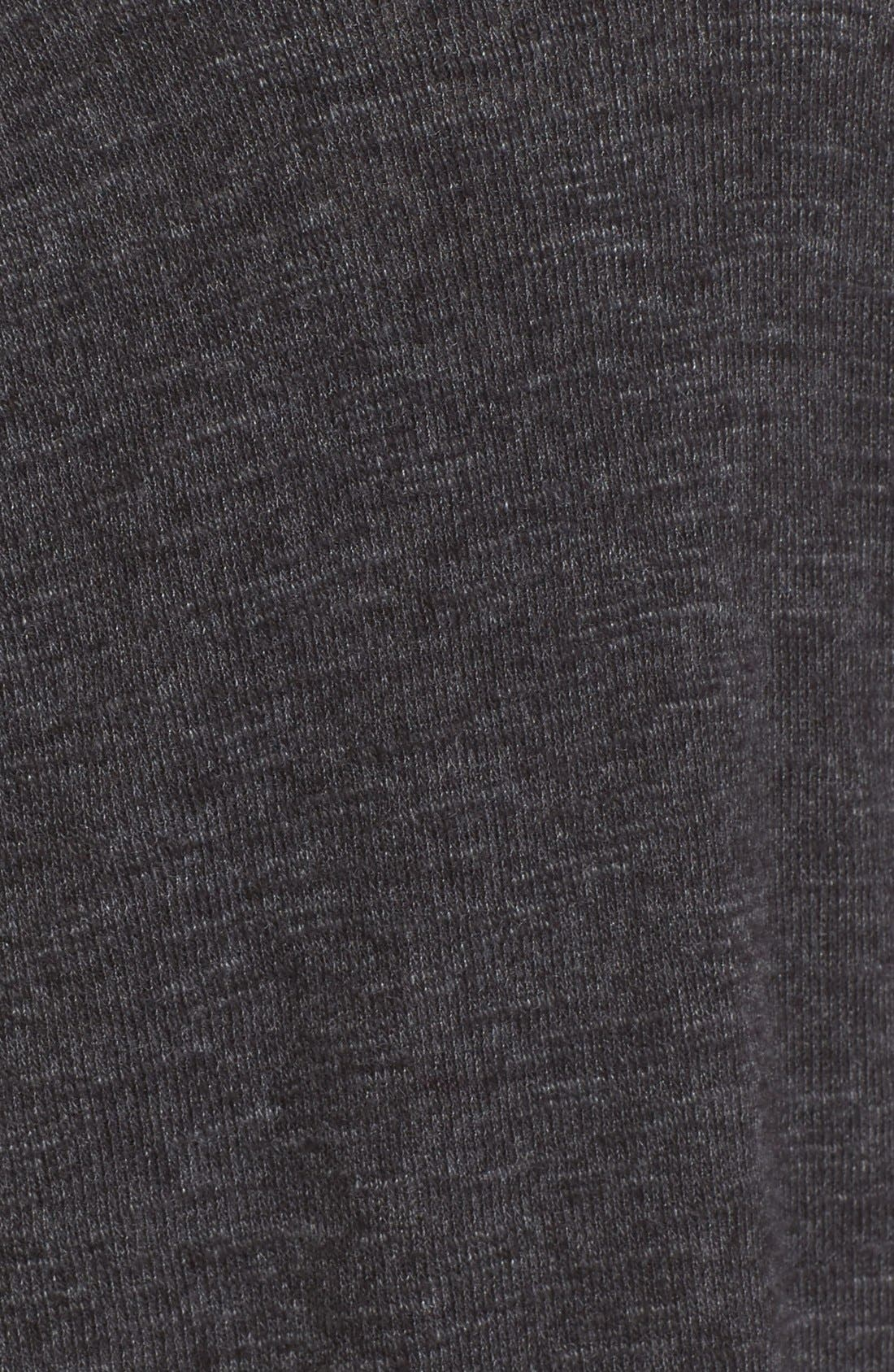Split Back Turtleneck,                             Alternate thumbnail 5, color,                             Black
