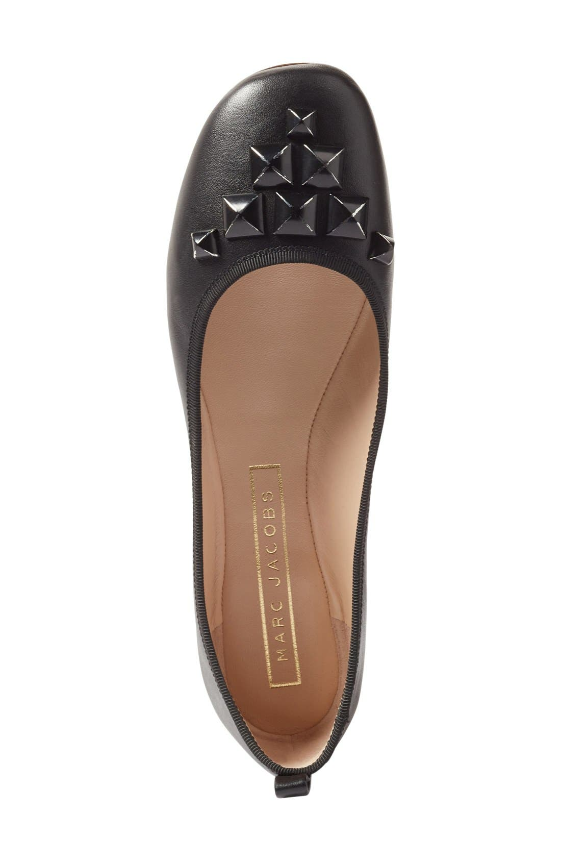 Alternate Image 3  - MARC JACOBS Cleo Studded Ballet Flat (Women)