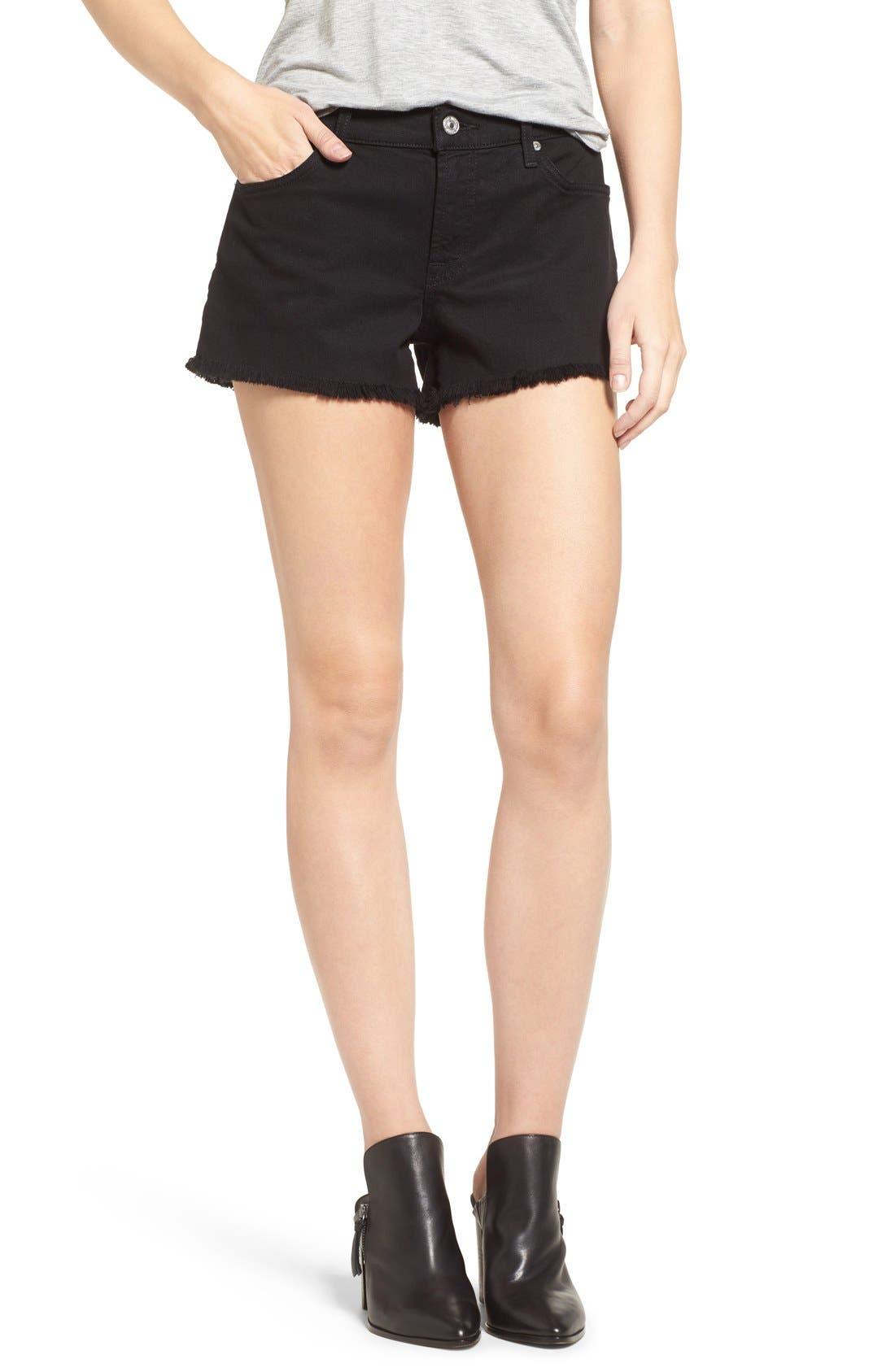 Cutoff Shorts,                             Main thumbnail 1, color,                             Black