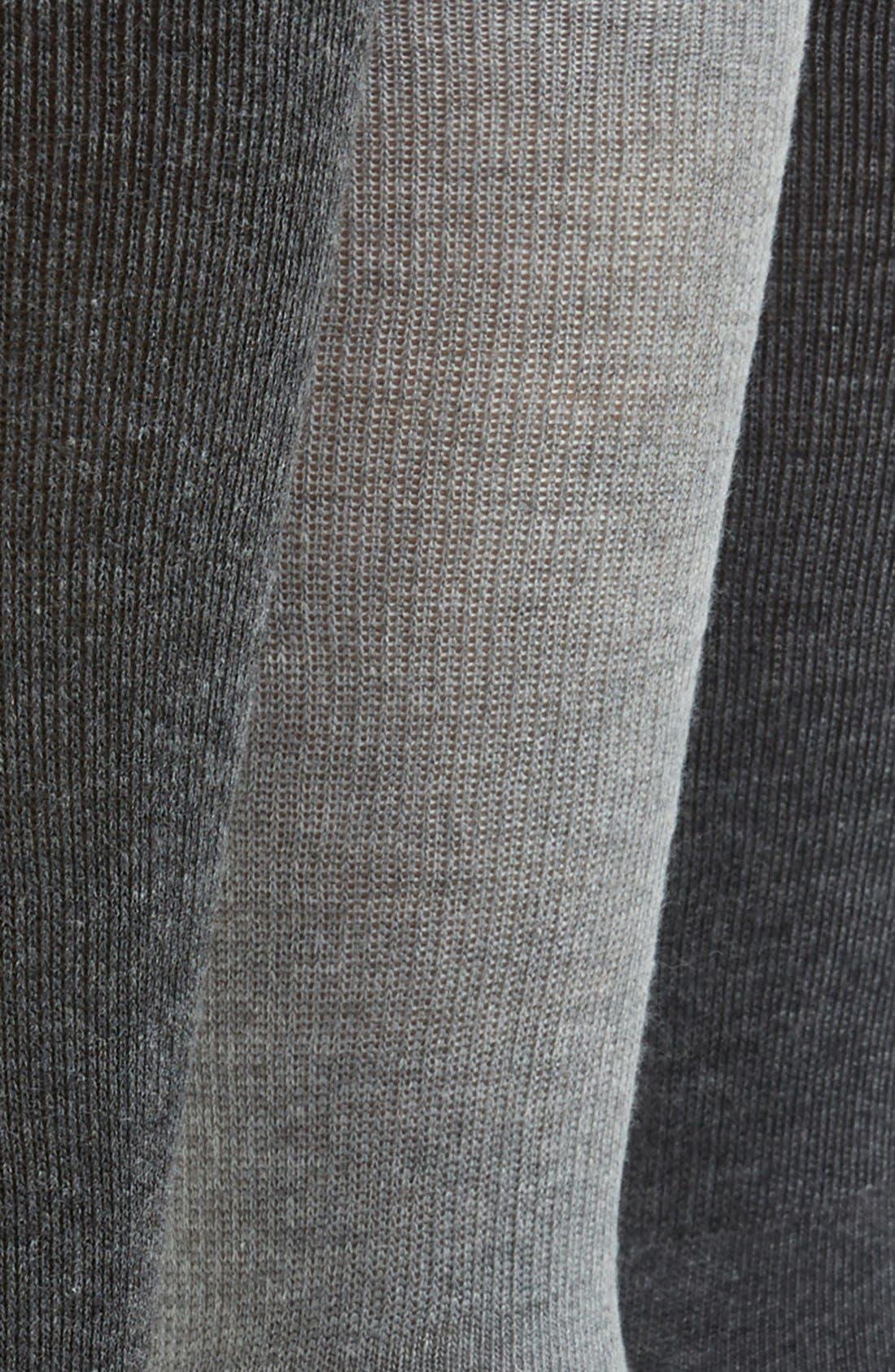 3-Pack Cotton Blend Socks,                             Alternate thumbnail 2, color,                             Grey