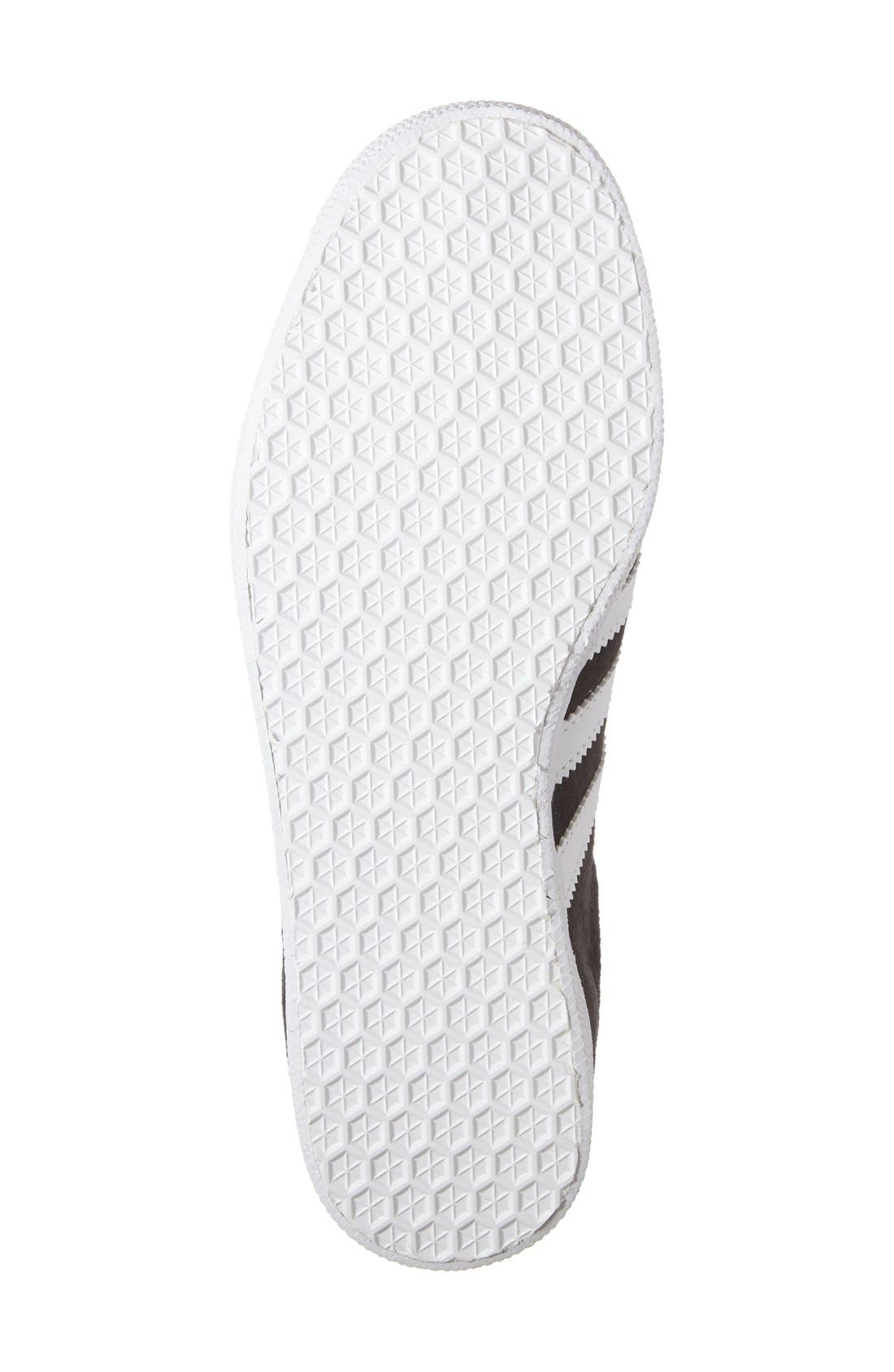 Gazelle Sneaker,                             Alternate thumbnail 4, color,                             Solid Grey