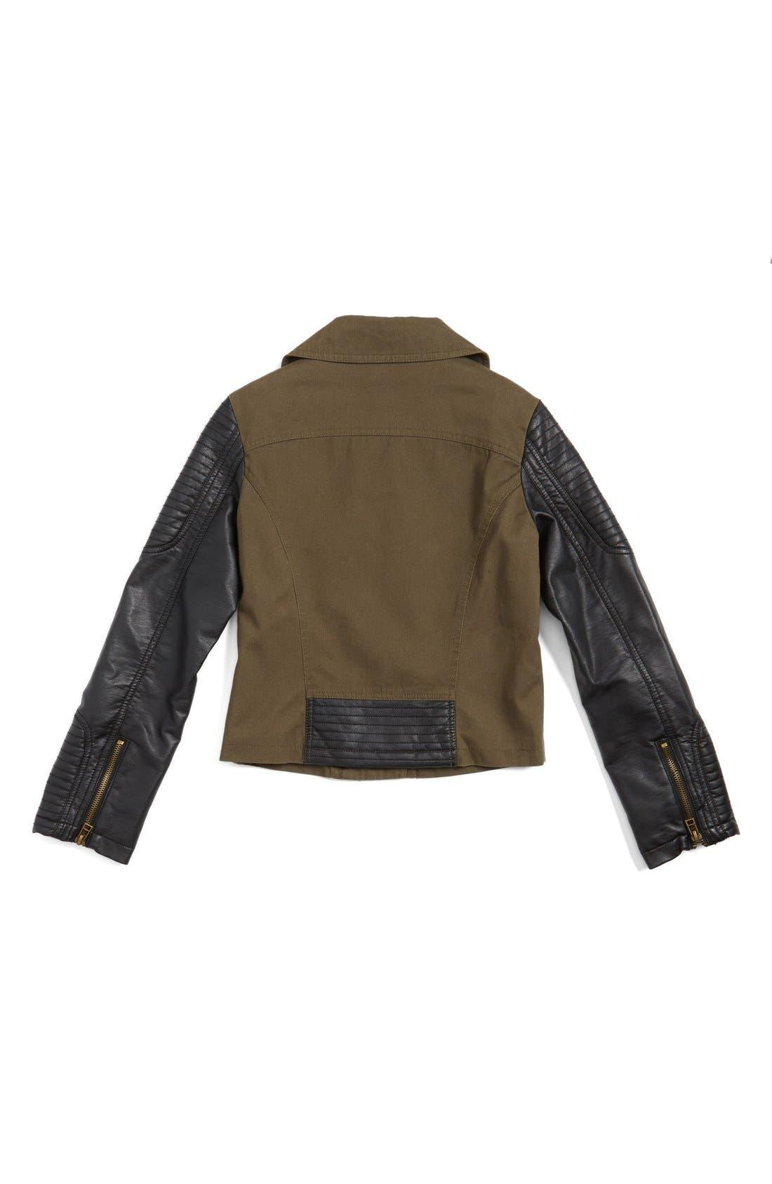 Alternate Image 2  - CoffeeShop Kids Moto Jacket (Big Girls)